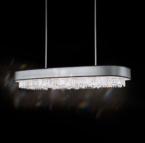 Zeppa 12-Light Kitchen Island Pendant Shade Color: Silver