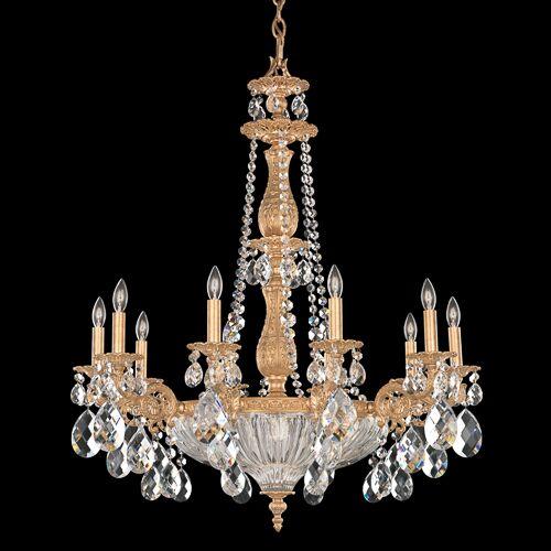 Milano 10-Light Chandelier Crystal Color: Golden Teak