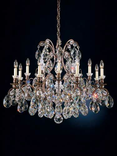Renaissance 12-Light Chandelier Finish / Crystal Color: Etruscan Gold / Handcut Clear
