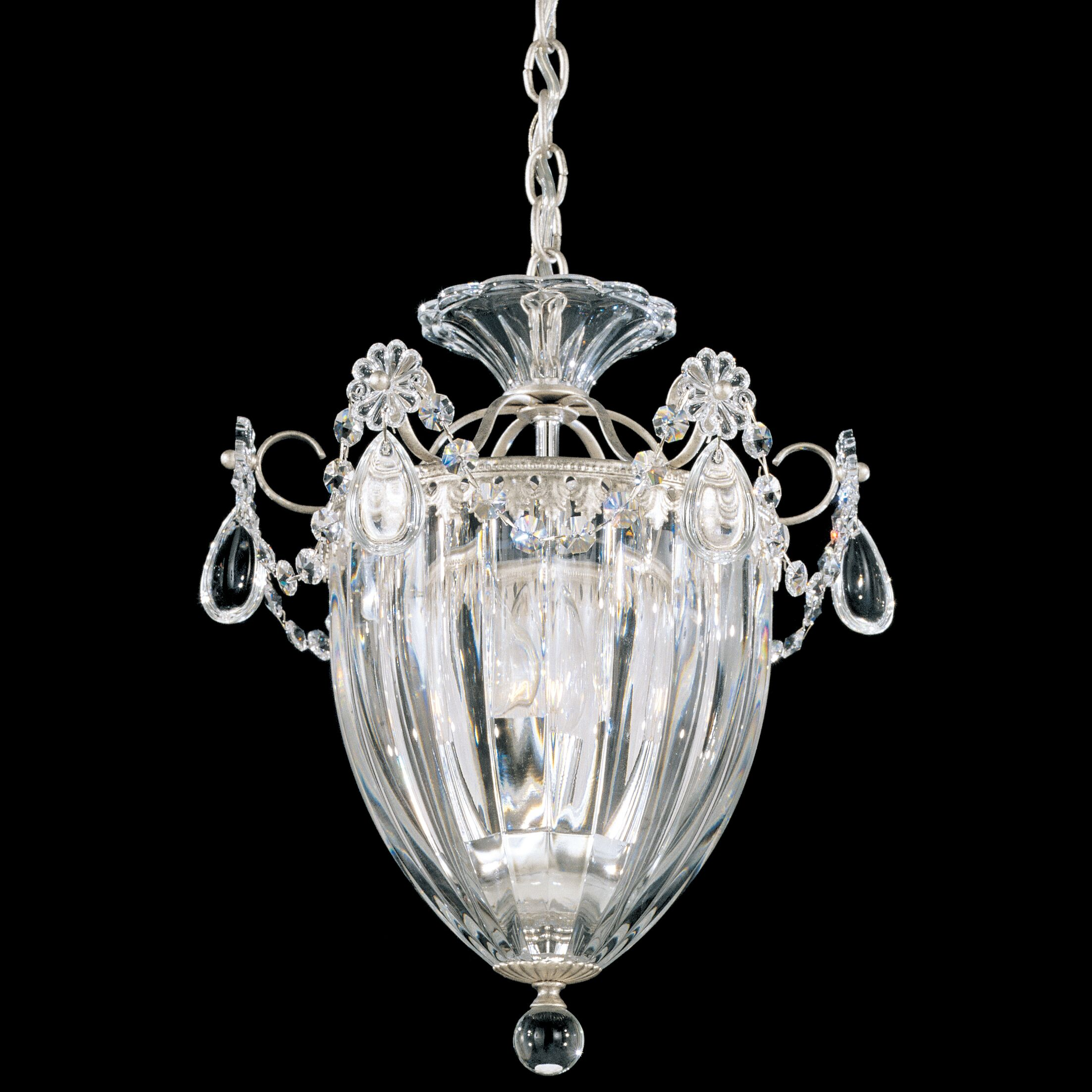 Bagatelle 3-Light Crystal Pendant Crystal Color: Spectra Clear, Finish: French Gold