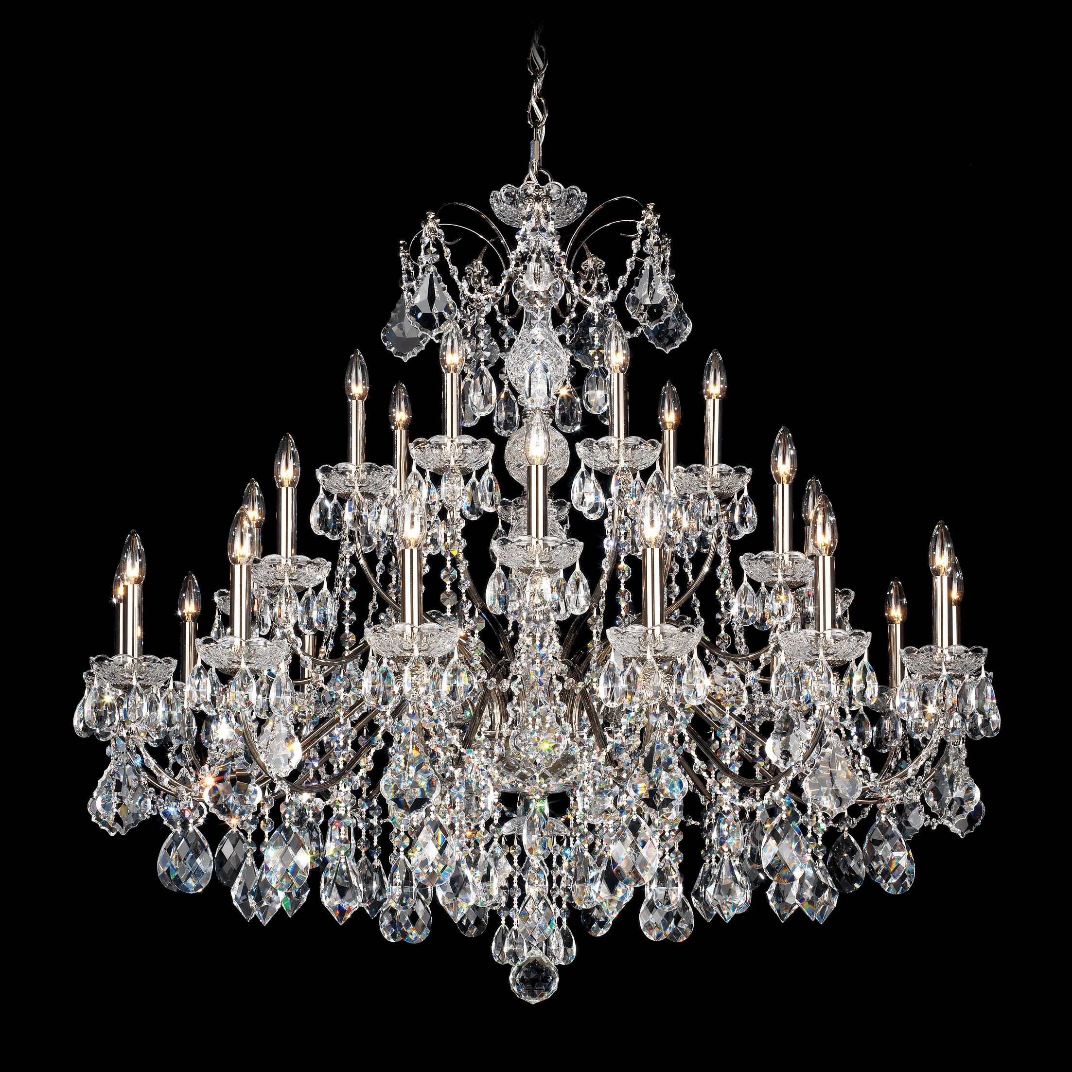 Century 28-Light Chandelier Color: Black pearl, Crystal Color: Heritage Handcut Crystal Clear