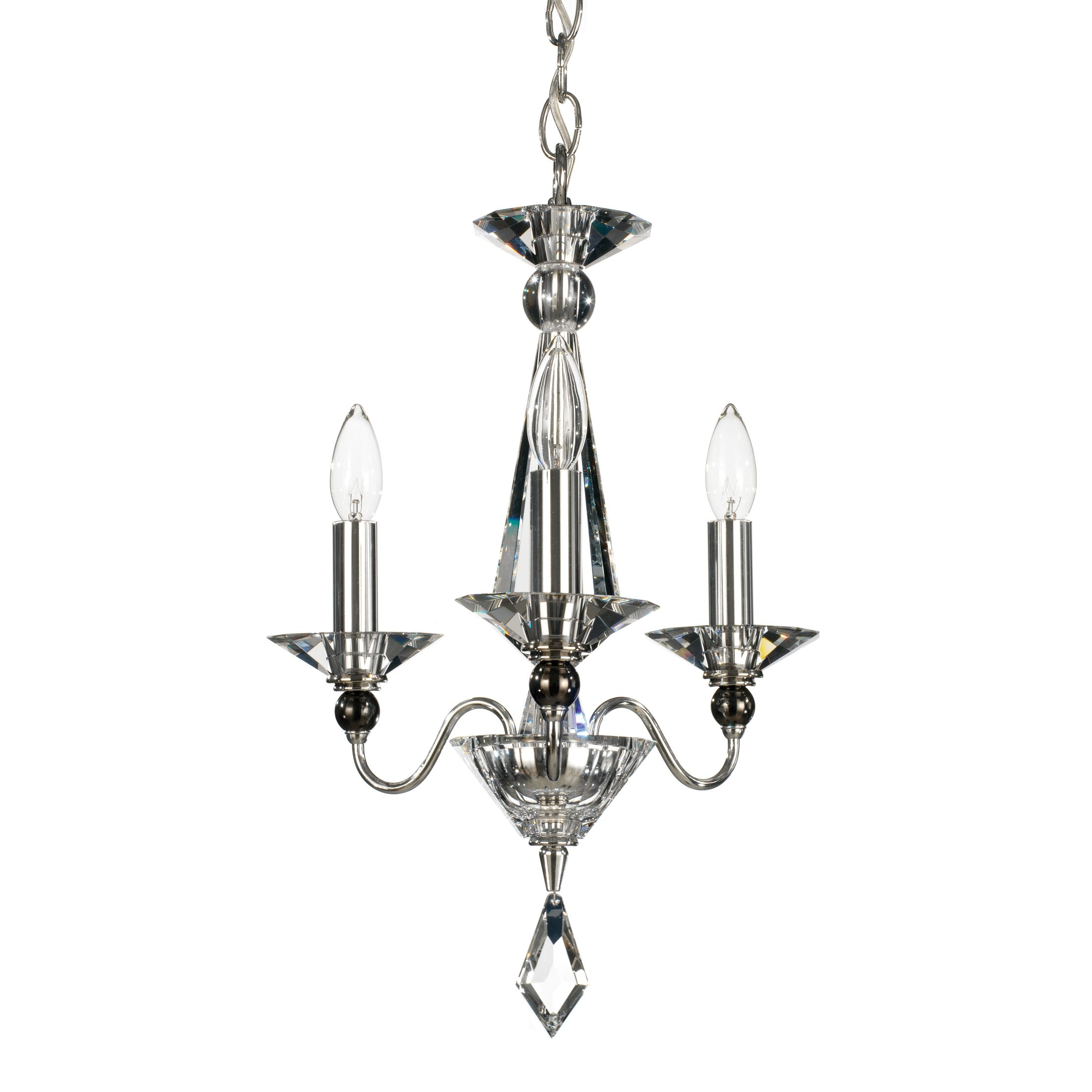Jasmine 3-Light Candle Style Chandelier Color / Crystal Color: Silver / Optic Clear