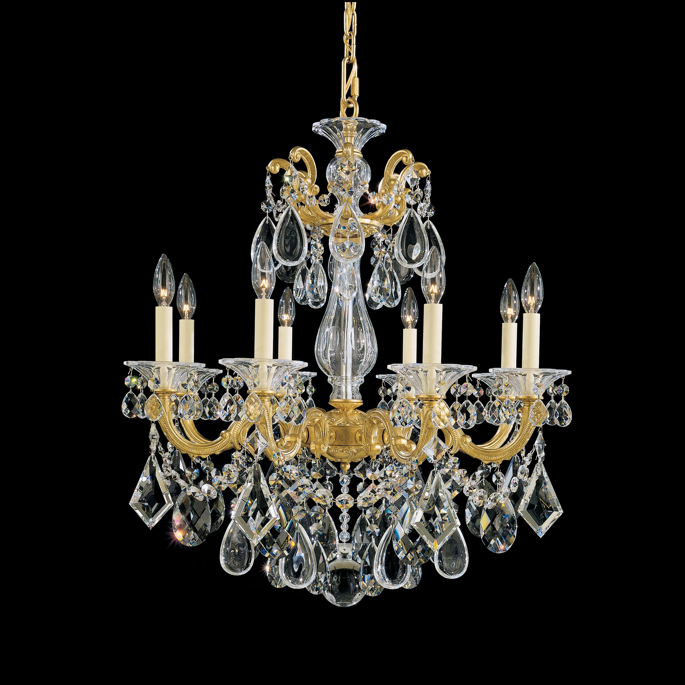 La Scala 8-Light Chandelier Finish / Crystal Color: Heirloom Bronze / Handcut Clear