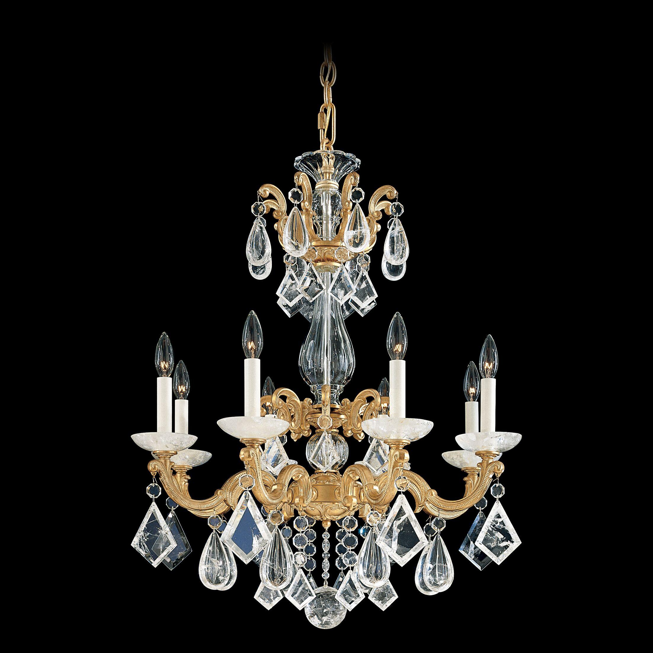 La Scala Rock Crystal 8-Light Chandelier