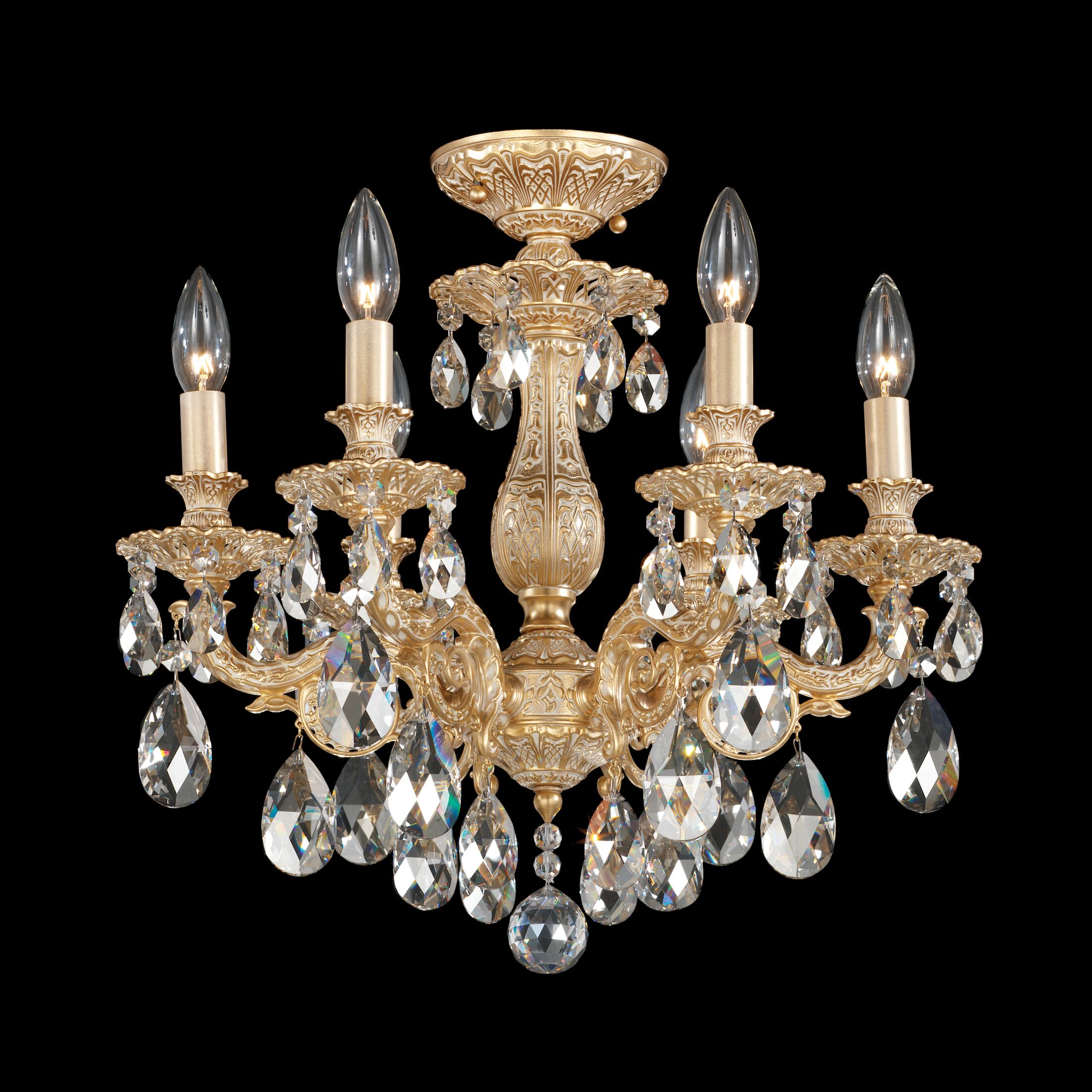 Milano 6-Light Chandelier Finish: Heirloom Bronze, Crystal Grade: Swarovski Elements Golden Teak