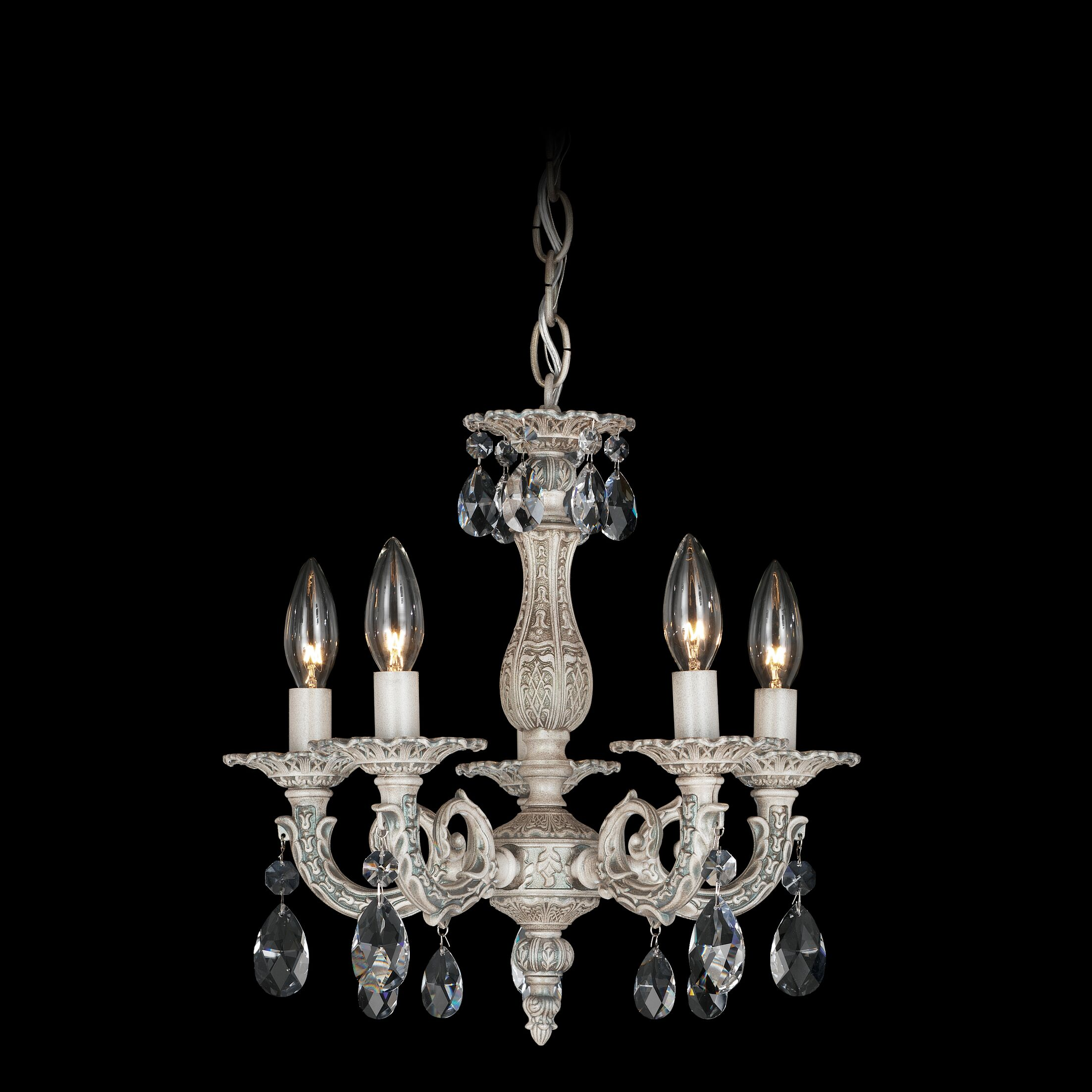 Milano 5-Light Chandelier Finish / Crystal Color: Antique Silver / Strass Clear