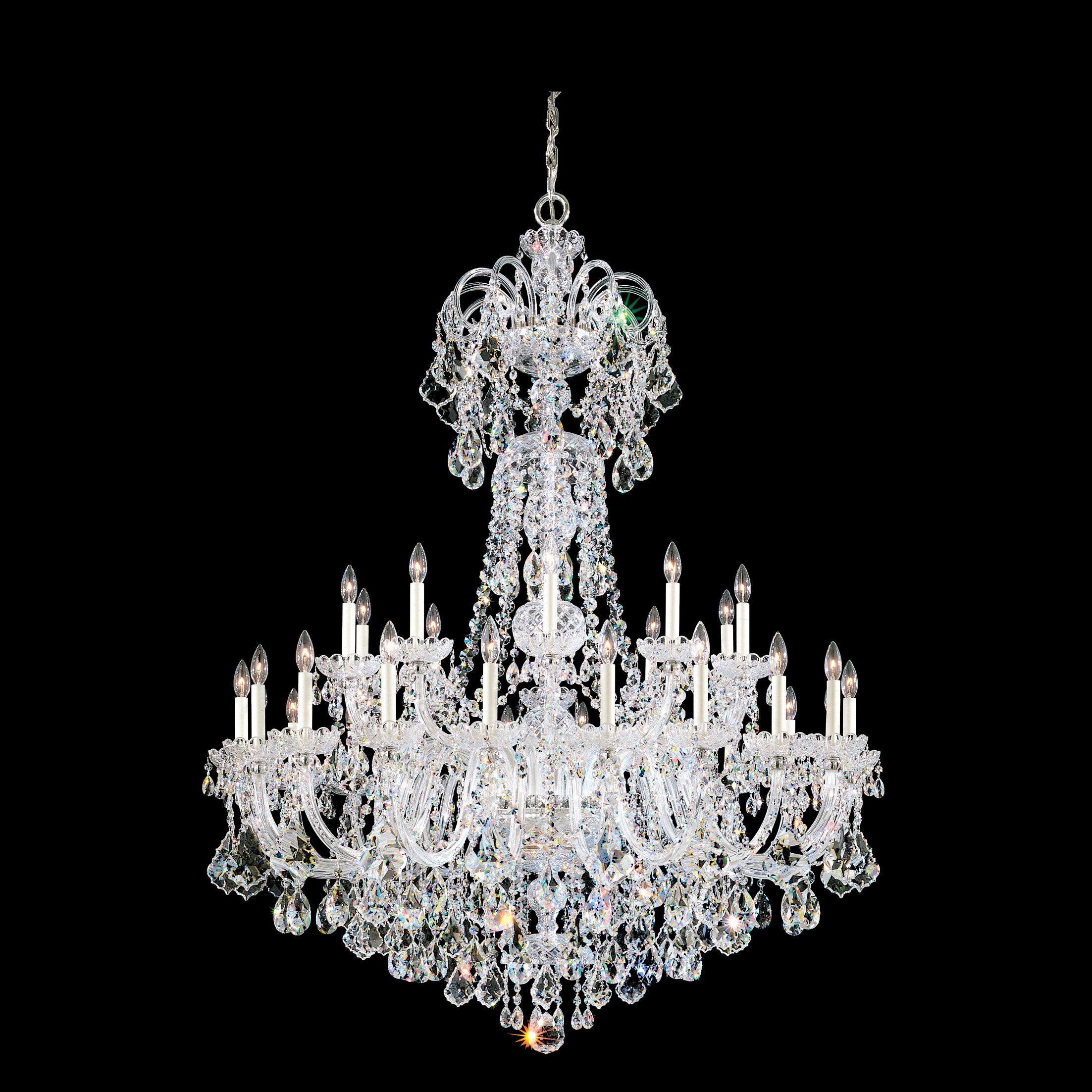 Olde World 35-Light Chandelier Crystal Type: Spectra Clear