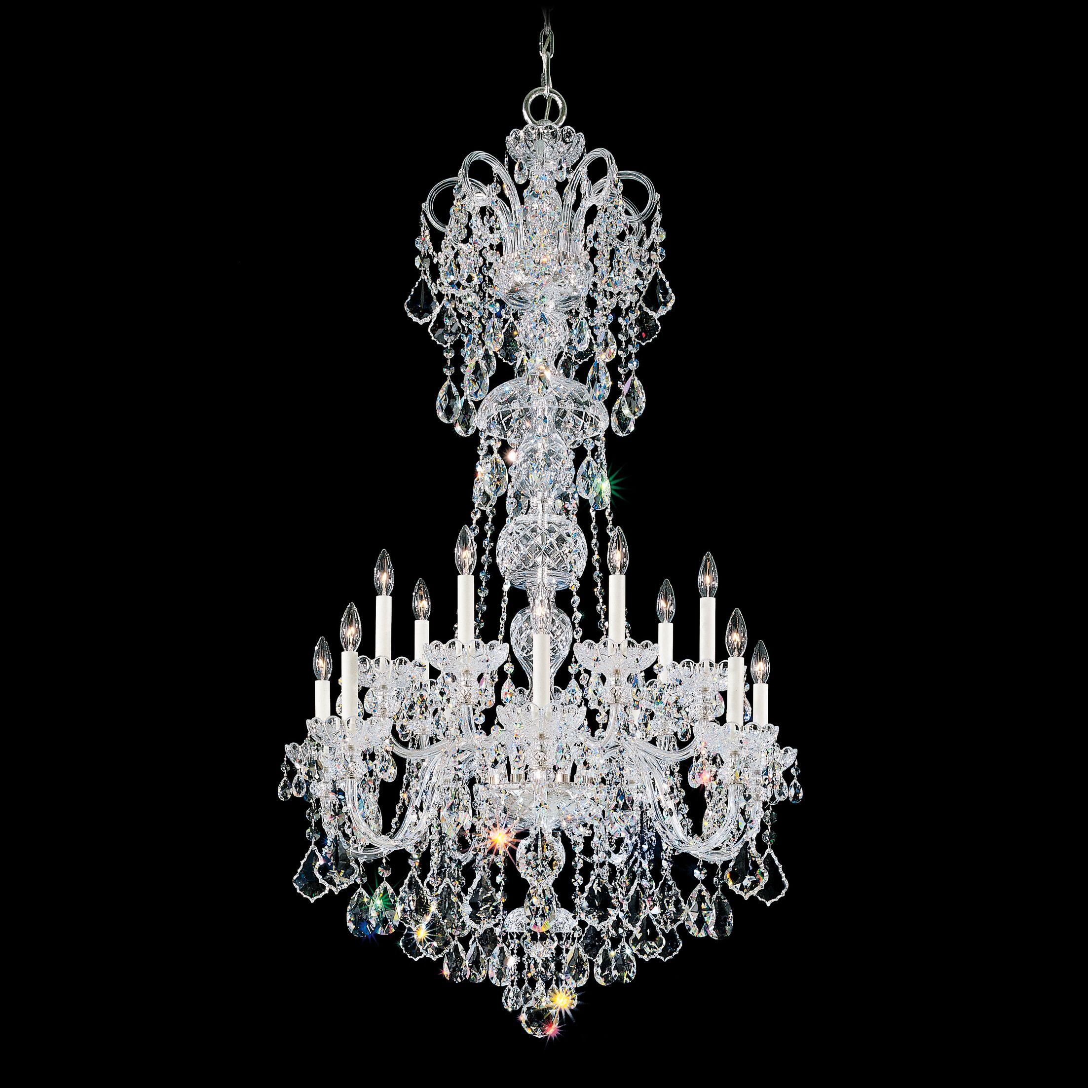 Olde World 14-Light Chandelier Color / Crystal Color: Silver / Strass Clear