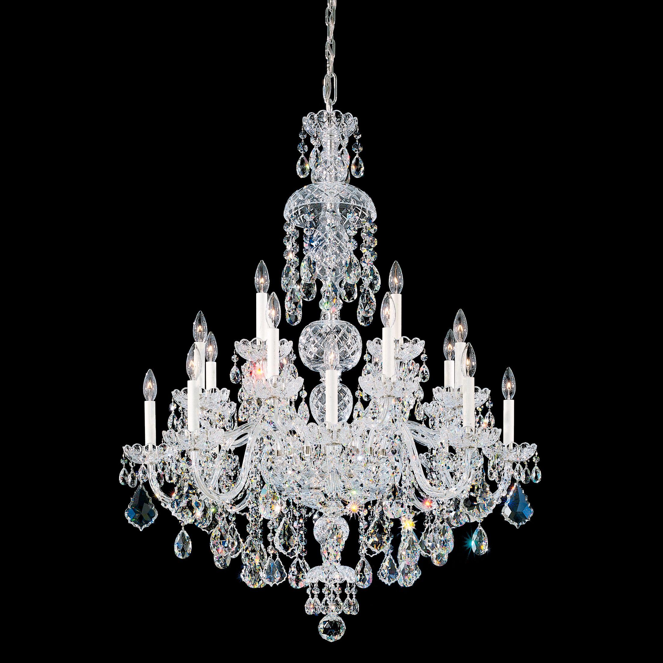 Olde World 20-Light Chandelier Color / Crystal Color: Silver / Spectra Swarovski