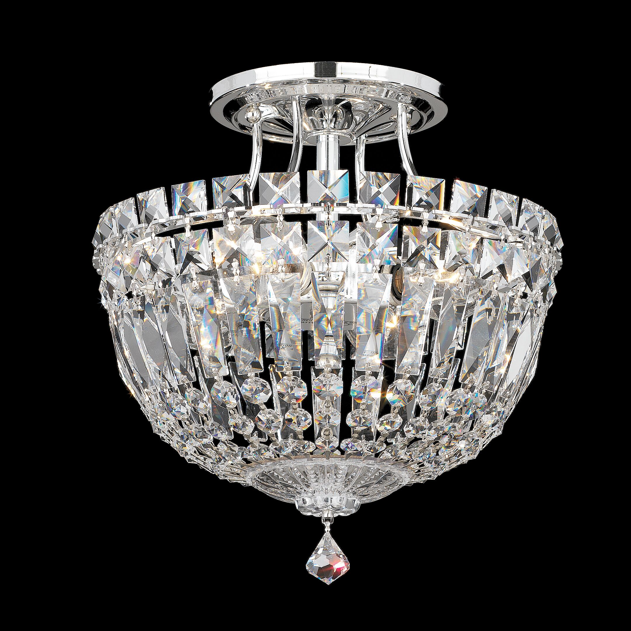 Petit Deluxe Semi Flush Mount Size / Finish / Crystal Grade: 10