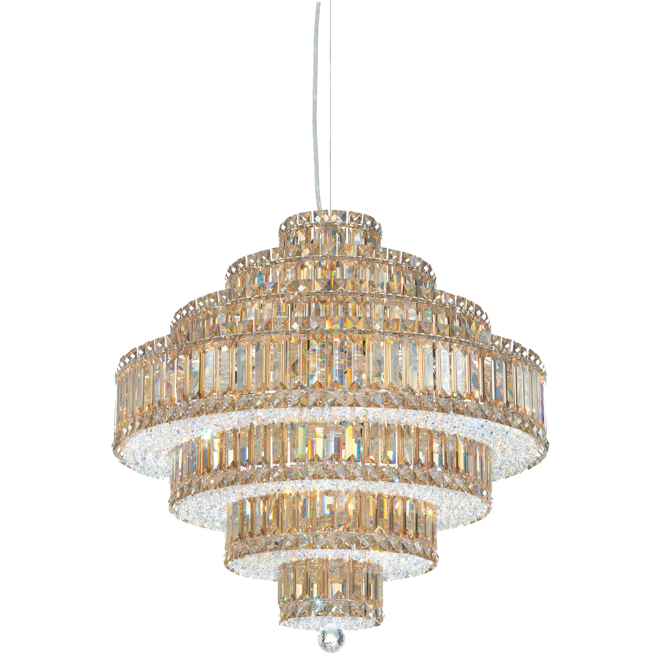 Plaza 25-Light Chandelier Crystal Color: Spectra Swarovski