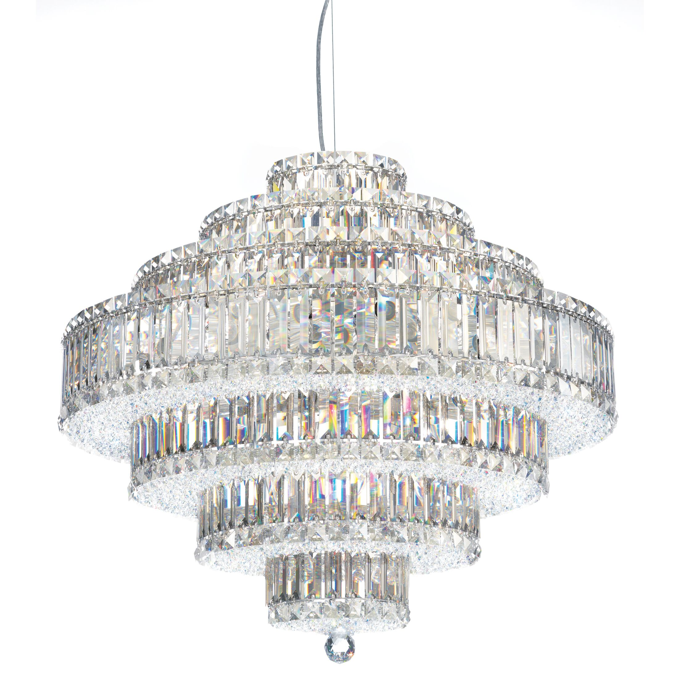 Plaza 31-Light Crystal Chandelier Crystal: Strass Clear