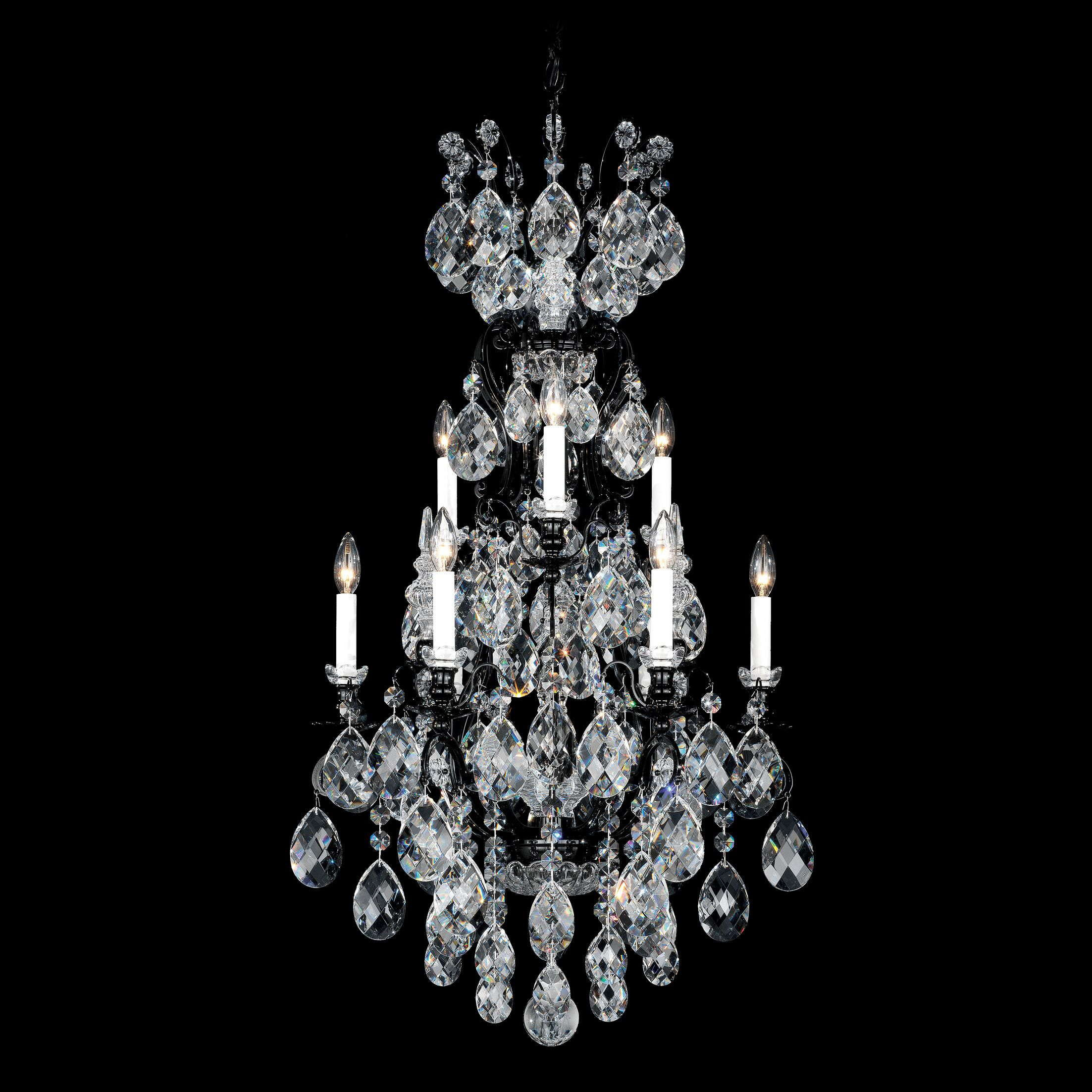 Renaissance 9-Light Chandelier Finish / Crystal Color: Heirloom Gold / Handcut Clear