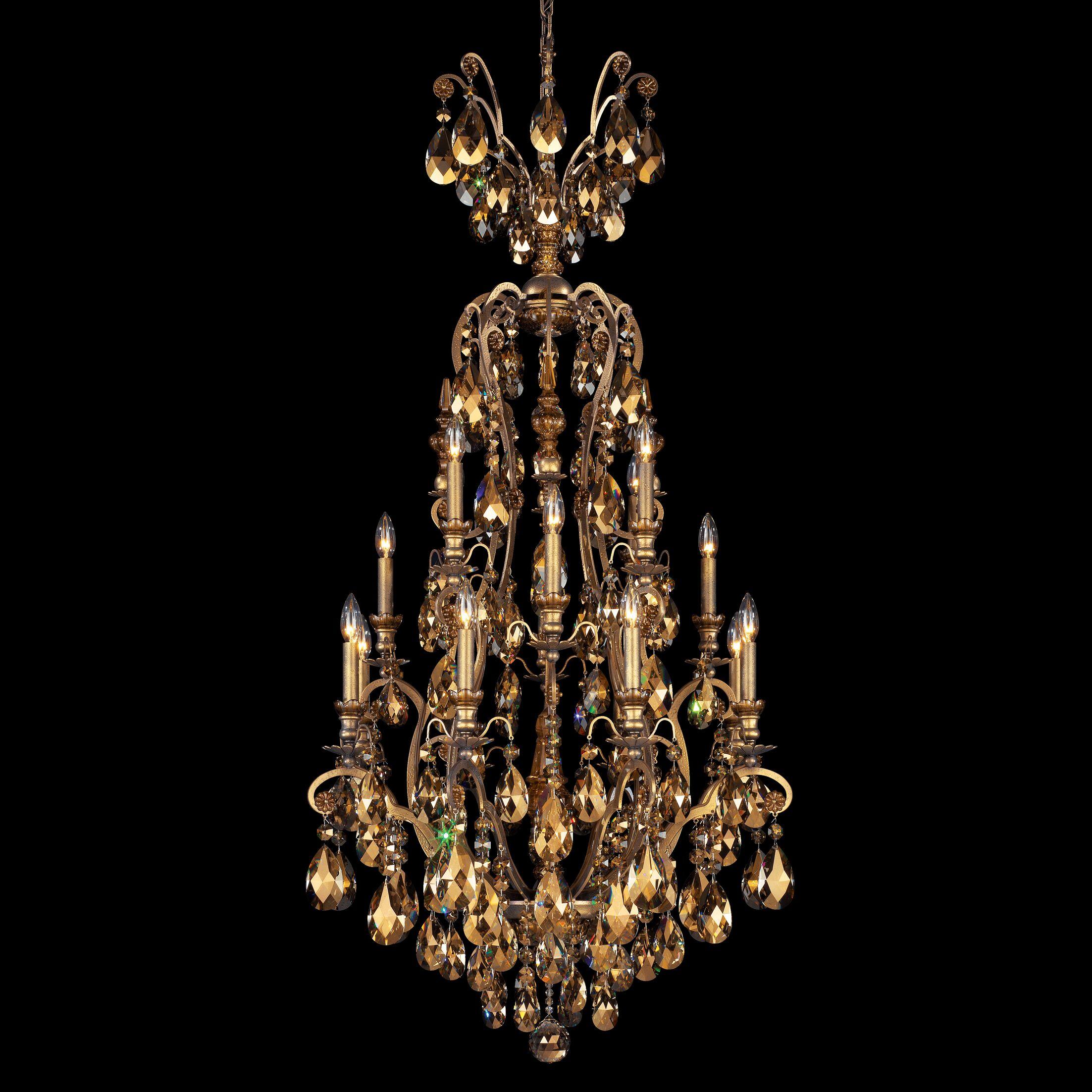 Renaissance 16-Light Chandelier Finish / Crystal Color: Etruscan Gold / Strass Golden Teak