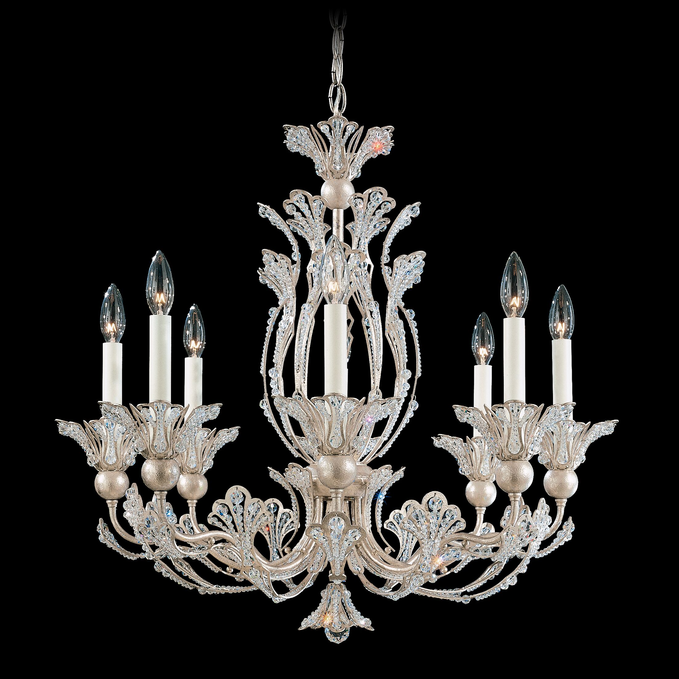 Rivendell 8-Light Chandelier Finish: Antique Silver, Crystal Color: Strass Clear