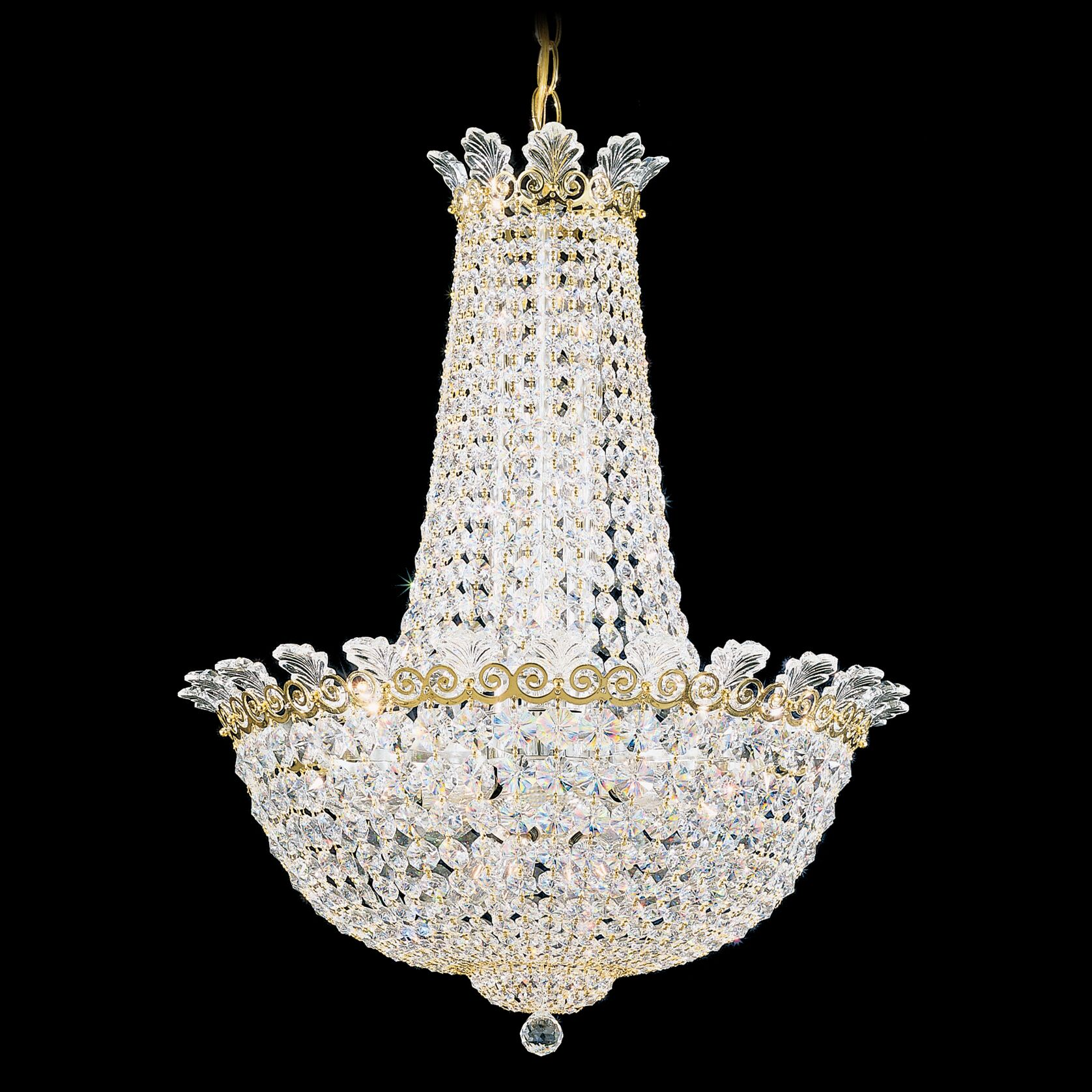 Roman 16-Light Chandelier Finish: French Gold, Crystal Color: Clear Spectra Crystal
