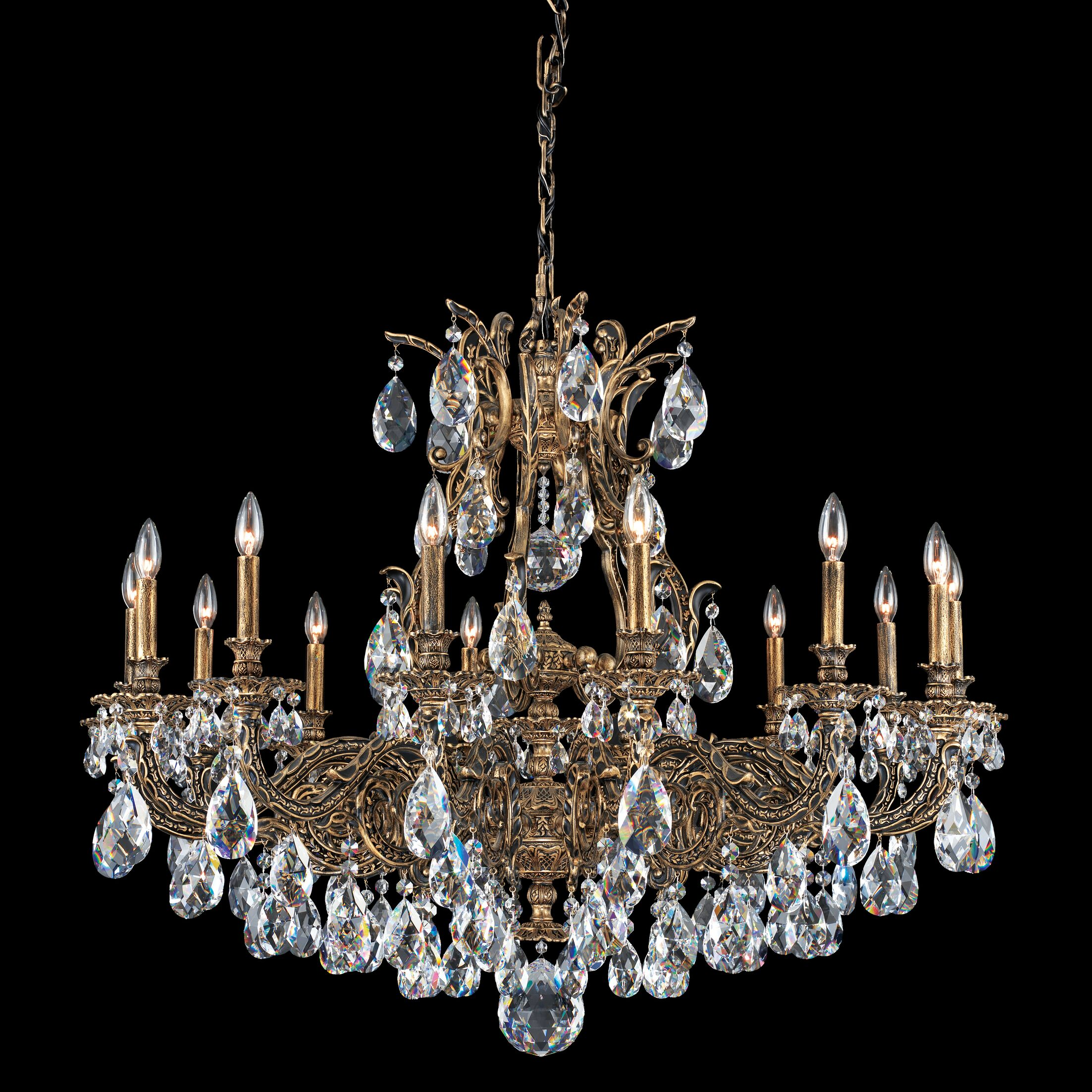 Sophia 14-Light Chandelier Finish: Florentine Bronze, Crystal Color: Swarovski Spectra