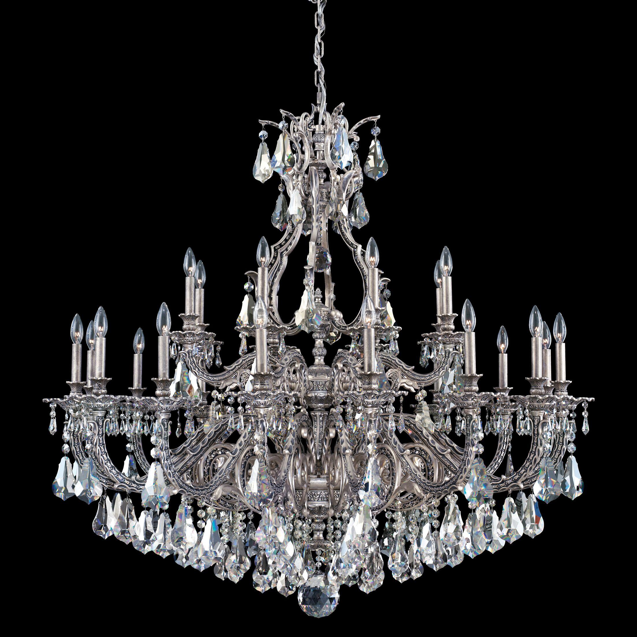 Sophia 24-Light Chandelier Crystal Type: Swarovski Elements Clear, Finish: Heirloom Bronze