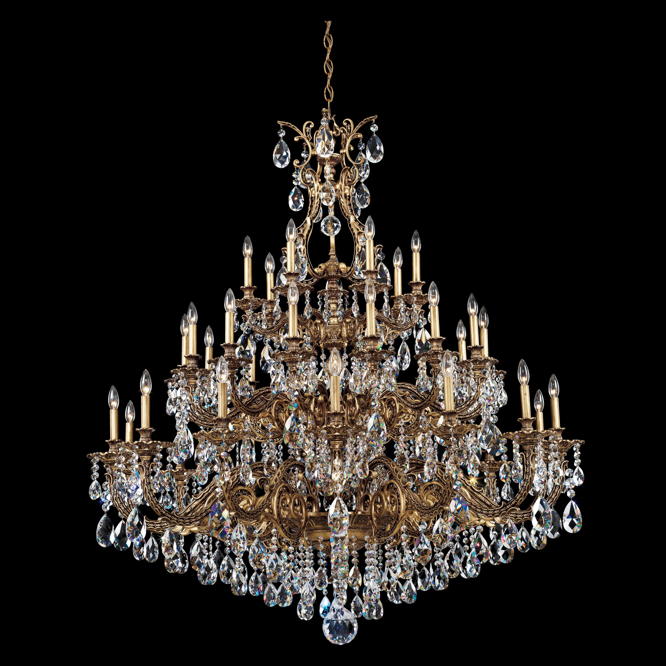 Sophia 35-Light Chandelier Finish: Florentine Bronze, Crystal Color: Optic Clear