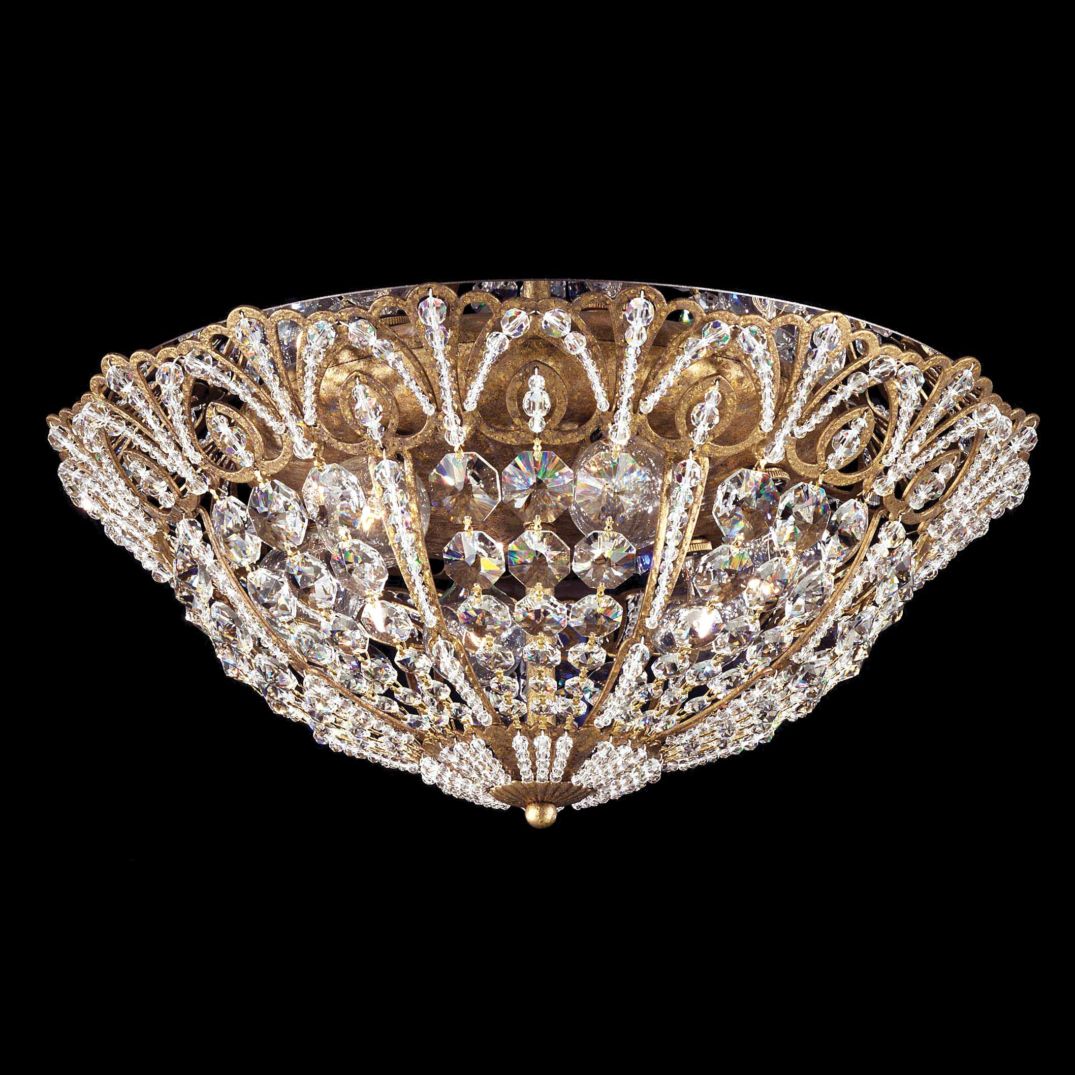 Tiara Flush Mount Size / Finish: 8