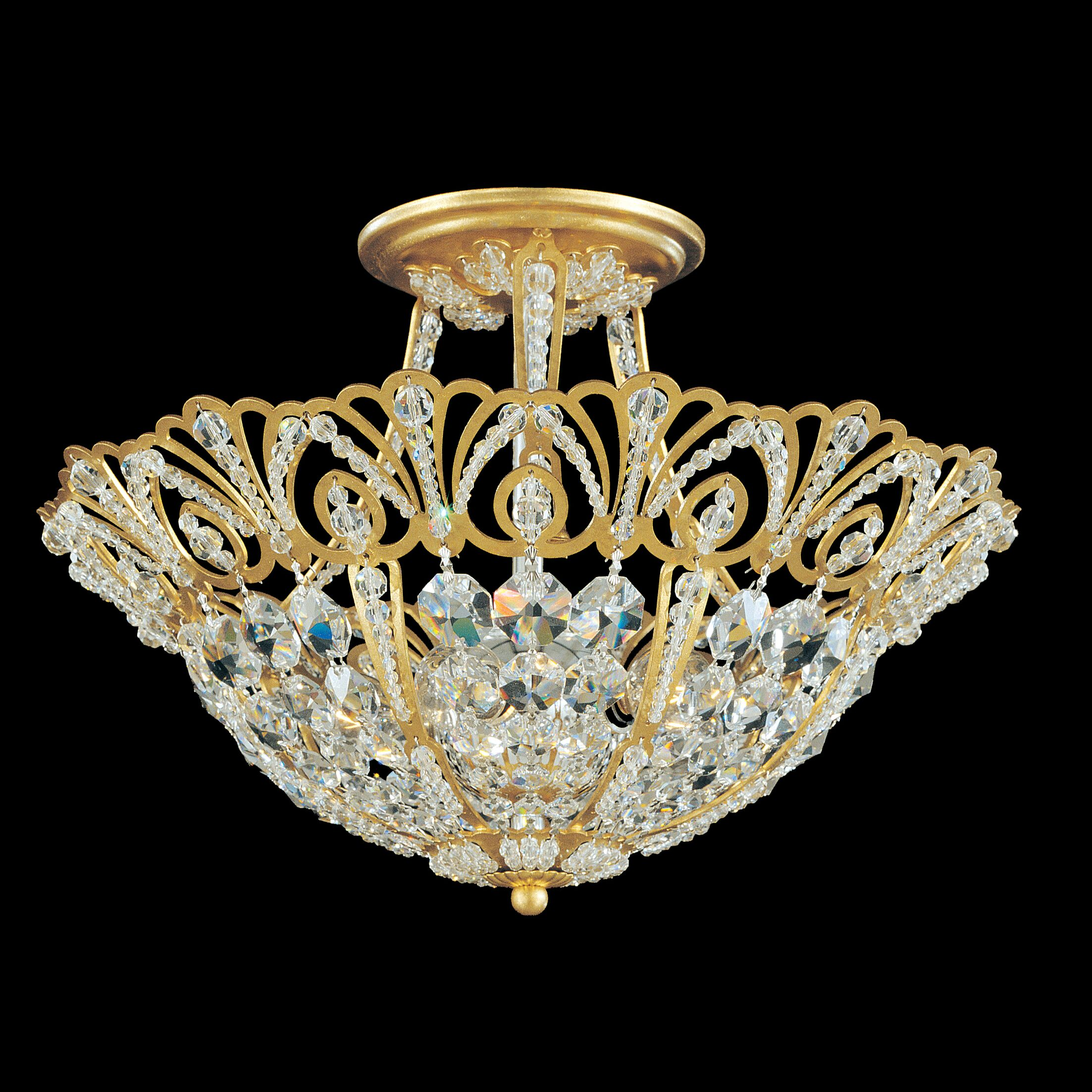 Tiara 5-Light Semi Flush Mount Finish: Etruscan Gold