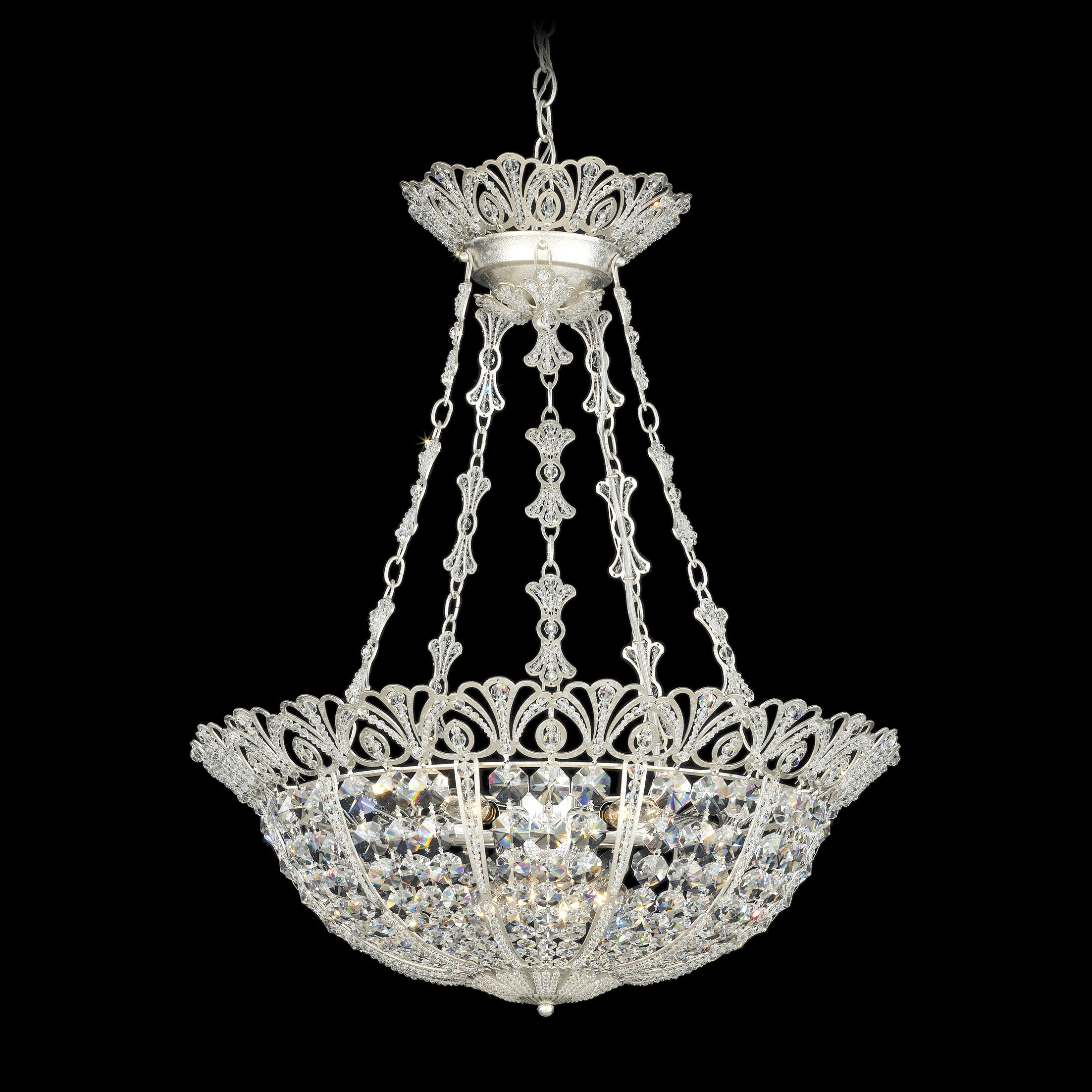 Tiara 5-Light Bowl Pendant Color: Heirloom Gold