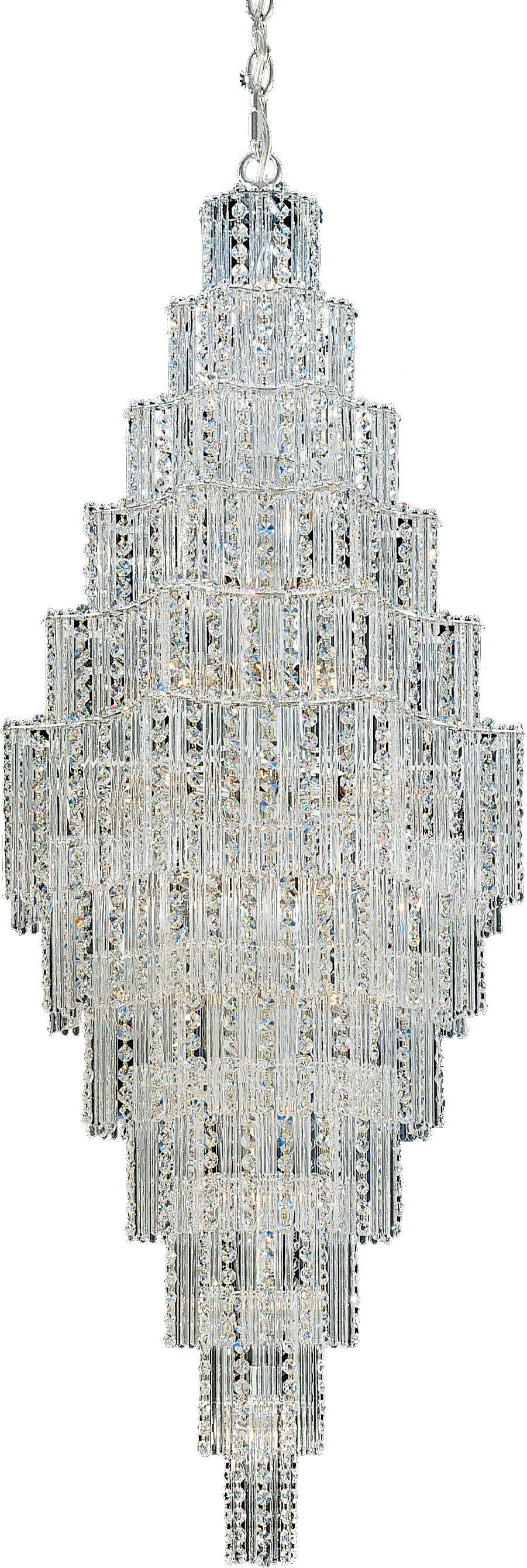 Jubilee 25-Light Crystal Chandelier Size: 52