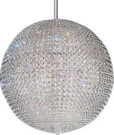 Da Vinci 72-Light Crystal Chandelier Crystal: Clear Spectra