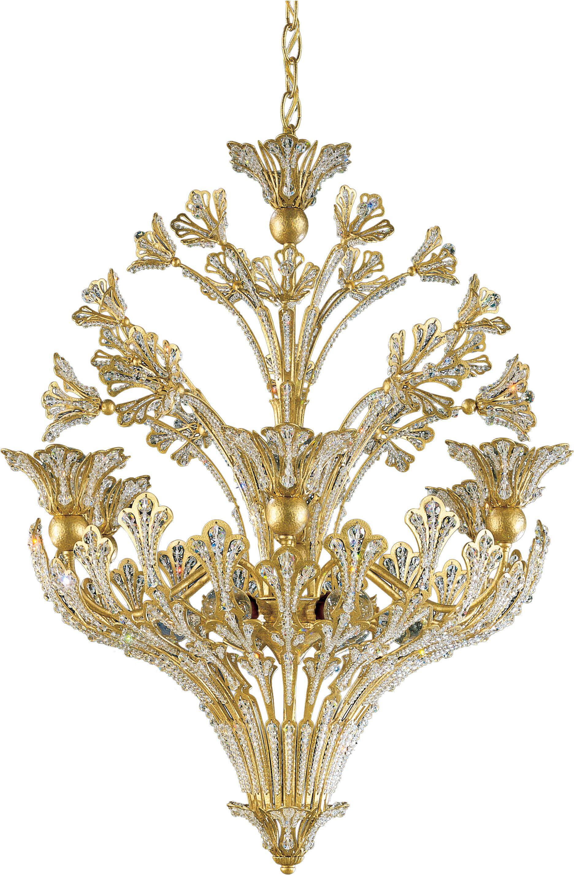Rivendell 12-Light Crystal Chandelier Crystal: Spectra Clear, Finish: Heirloom Bronze