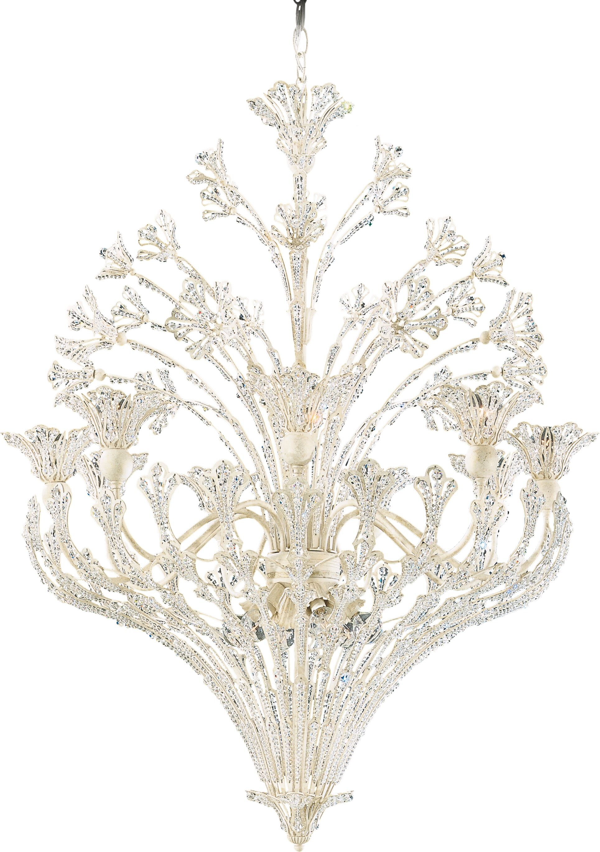 Rivendell 15-Light Crystal Chandelier Finish: Etruscan Gold, Crystal: Swarovski Spectra