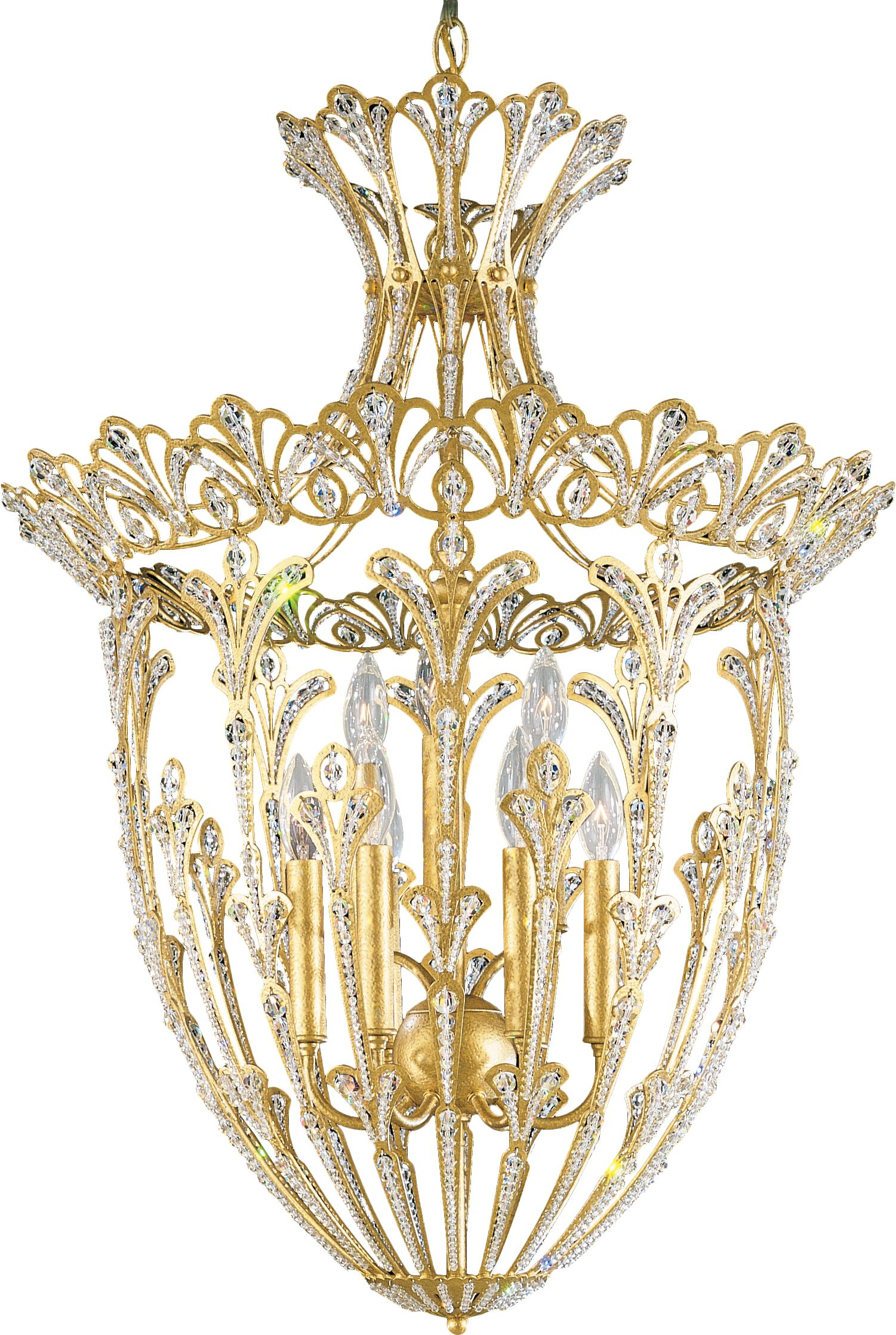 Rivendell 9-Light Crystal Chandelier Finish / Crystal Color: Heirloom Gold / Strass Clear