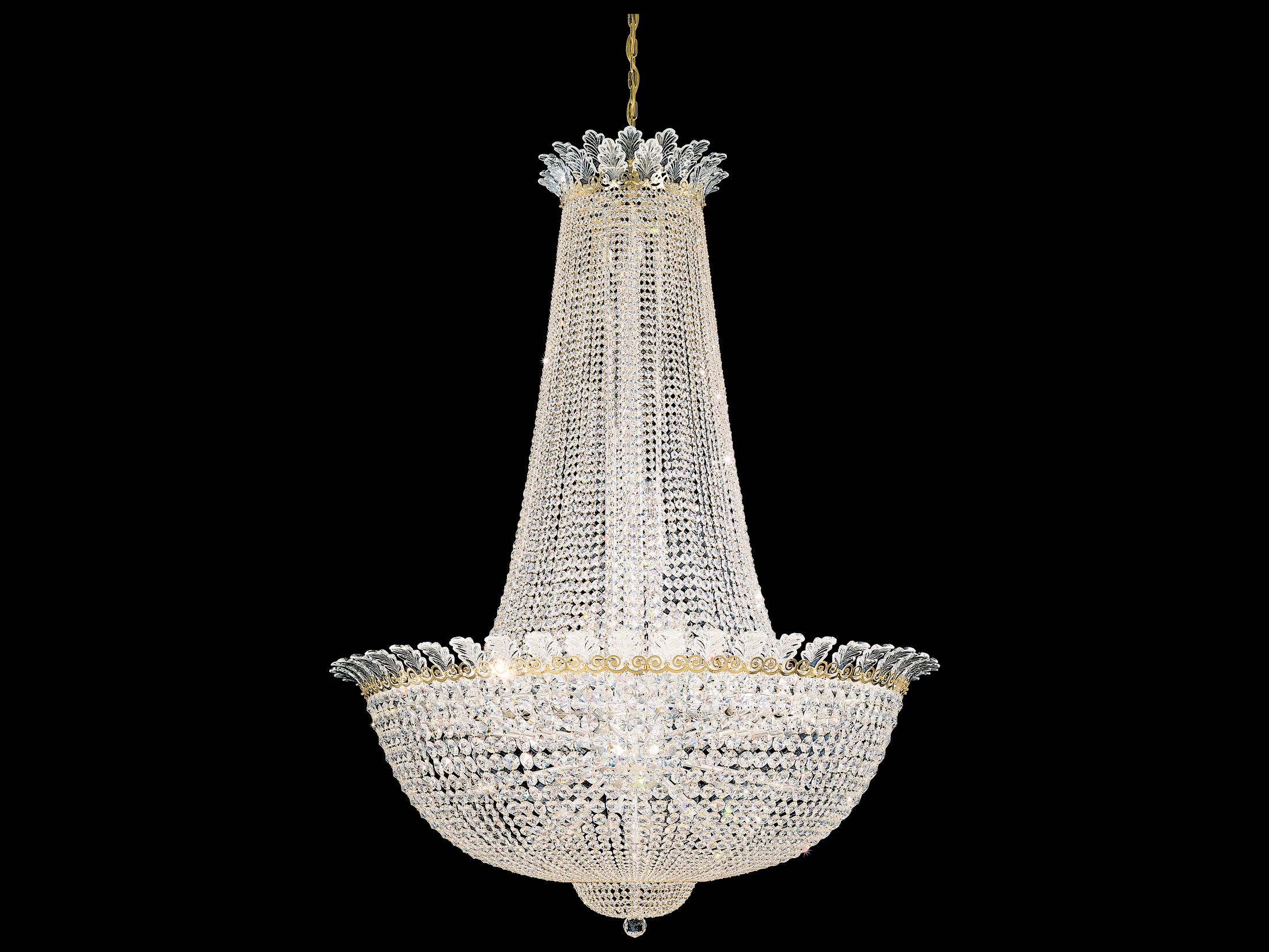 Roman Empire 58-Light Chandelier Crystal Grade: Swarovski Elements Clear, Finish: Black Pearl