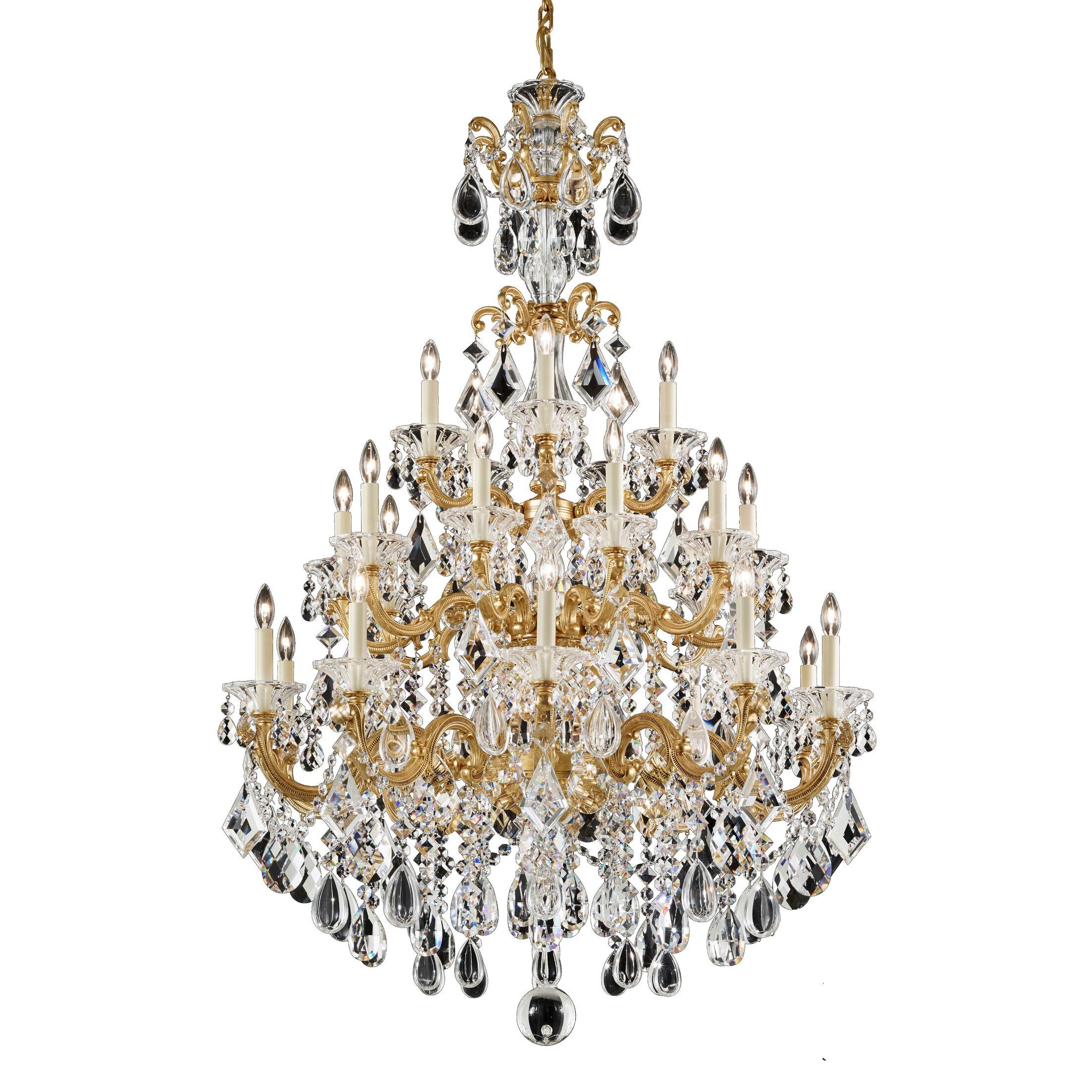 La Scala 25-Light Candle Style Chandelier Base Finish: Midnight Gild