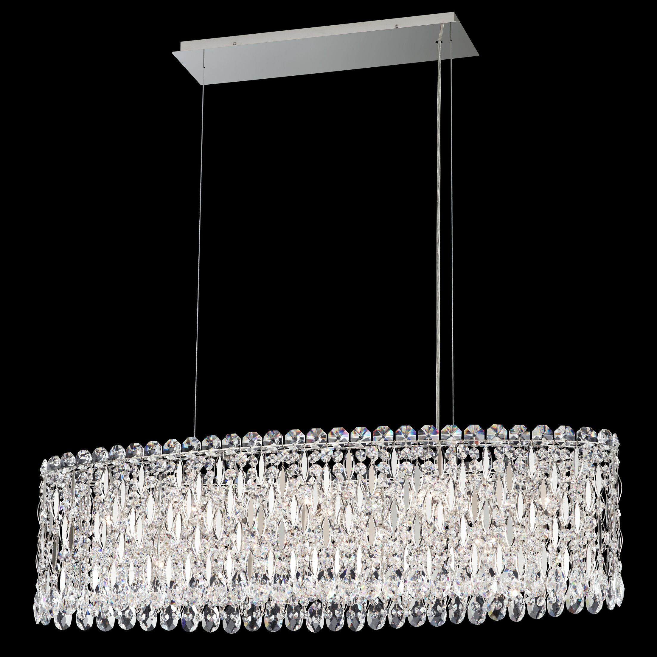 Sarella 12-Light Crystal Chandelier Crystal Grade: Spectra, Finish: Antique Silver