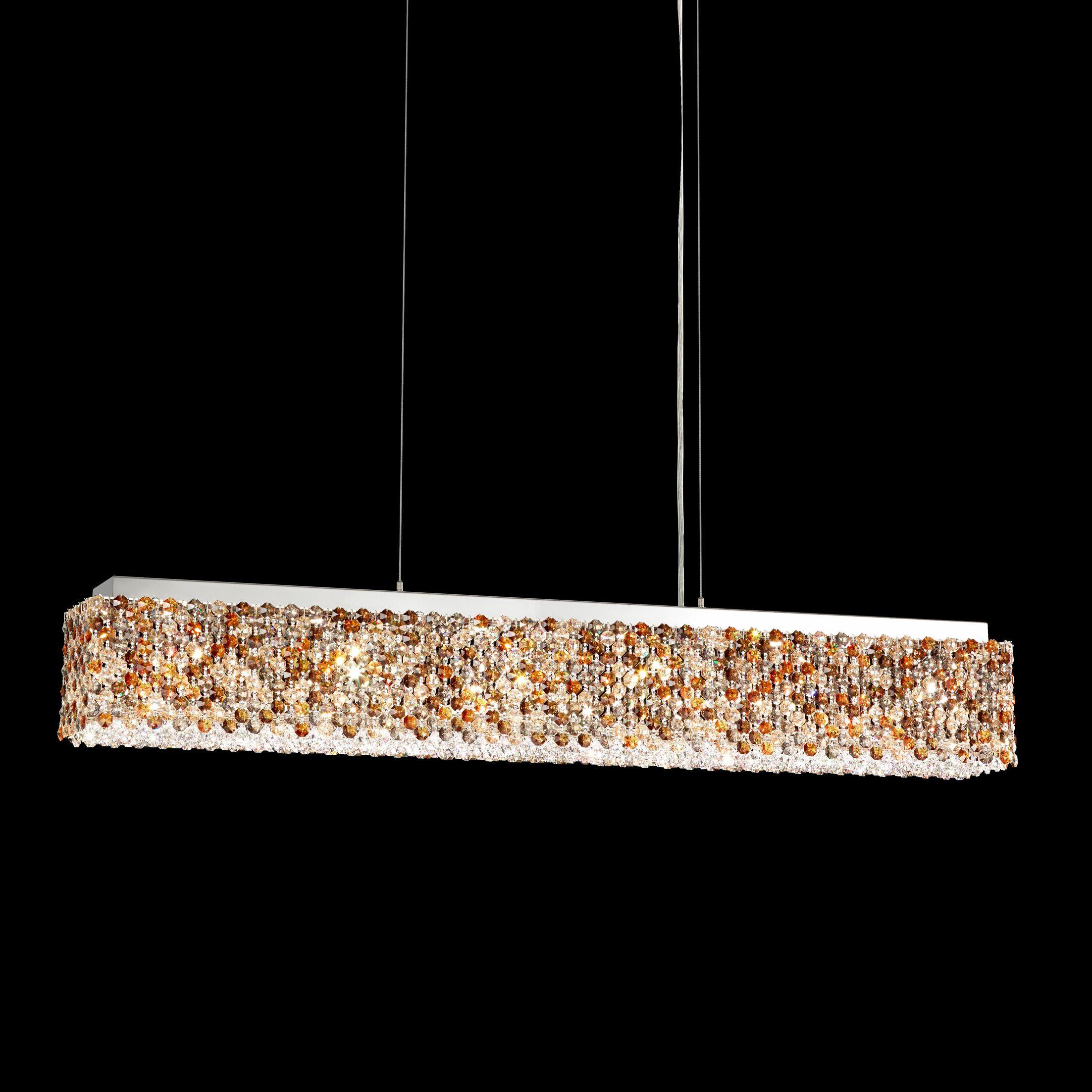 Refrax 6-Light Crystal Chandelier Crystal: Golden Teak from Swarovski