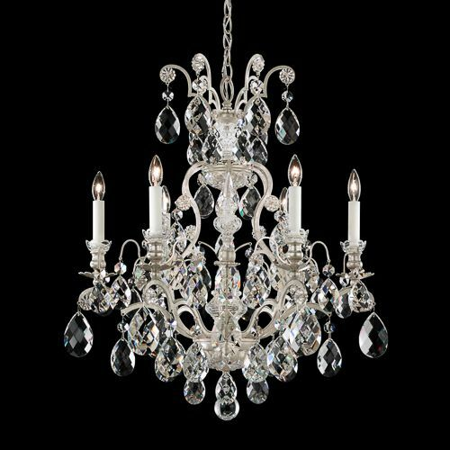Renaissance 6-Light Candle Style Chandelier Finish: French Gold, Crystal Grade: Clear from Swarovski