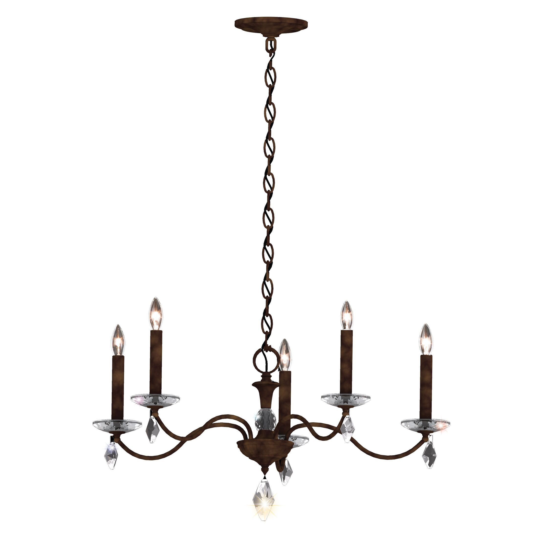 Modique 5-Light Chandelier Crystal Grade: Heritage, Finish: French Gold