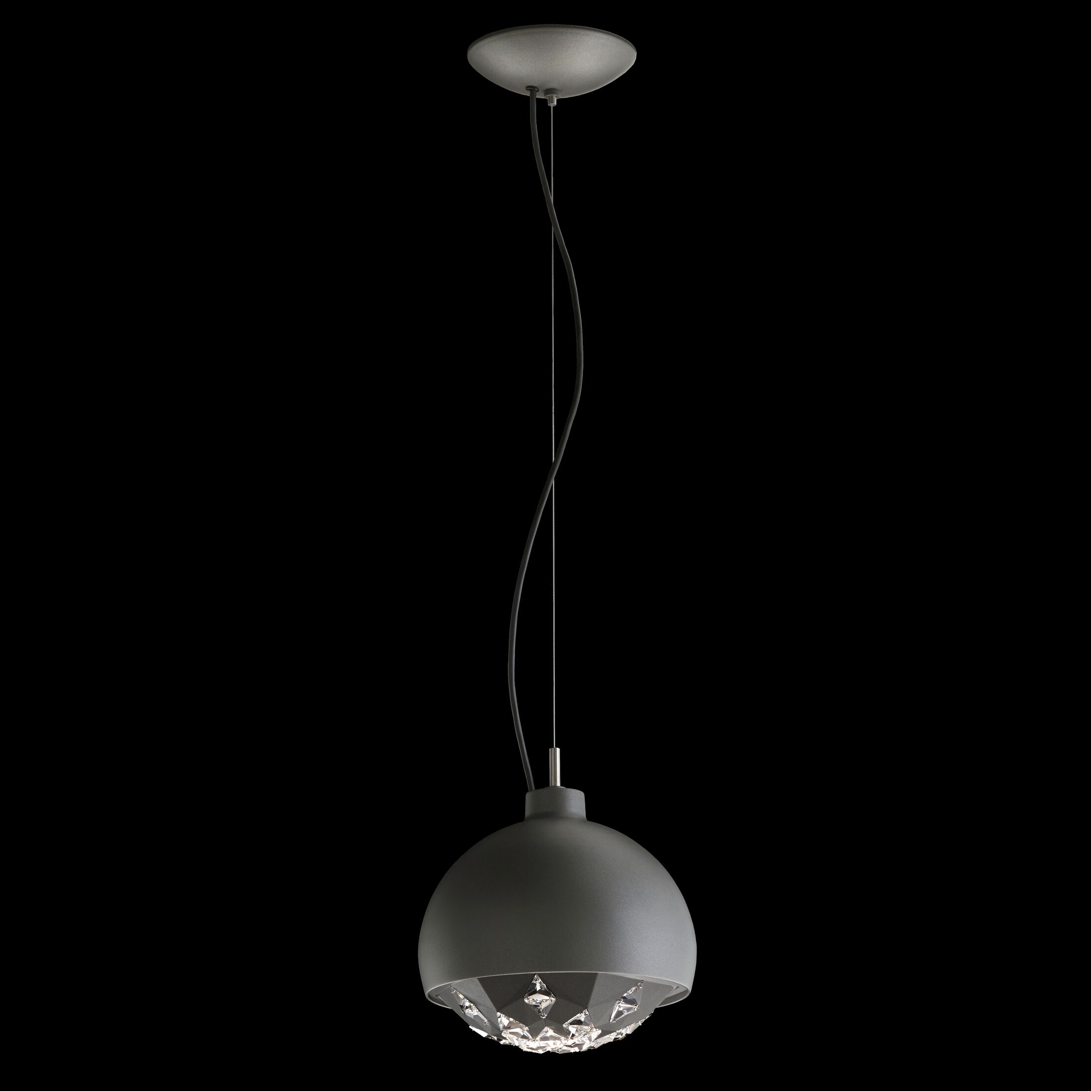 Estrella 1-Light Dome Pendant Finish: White