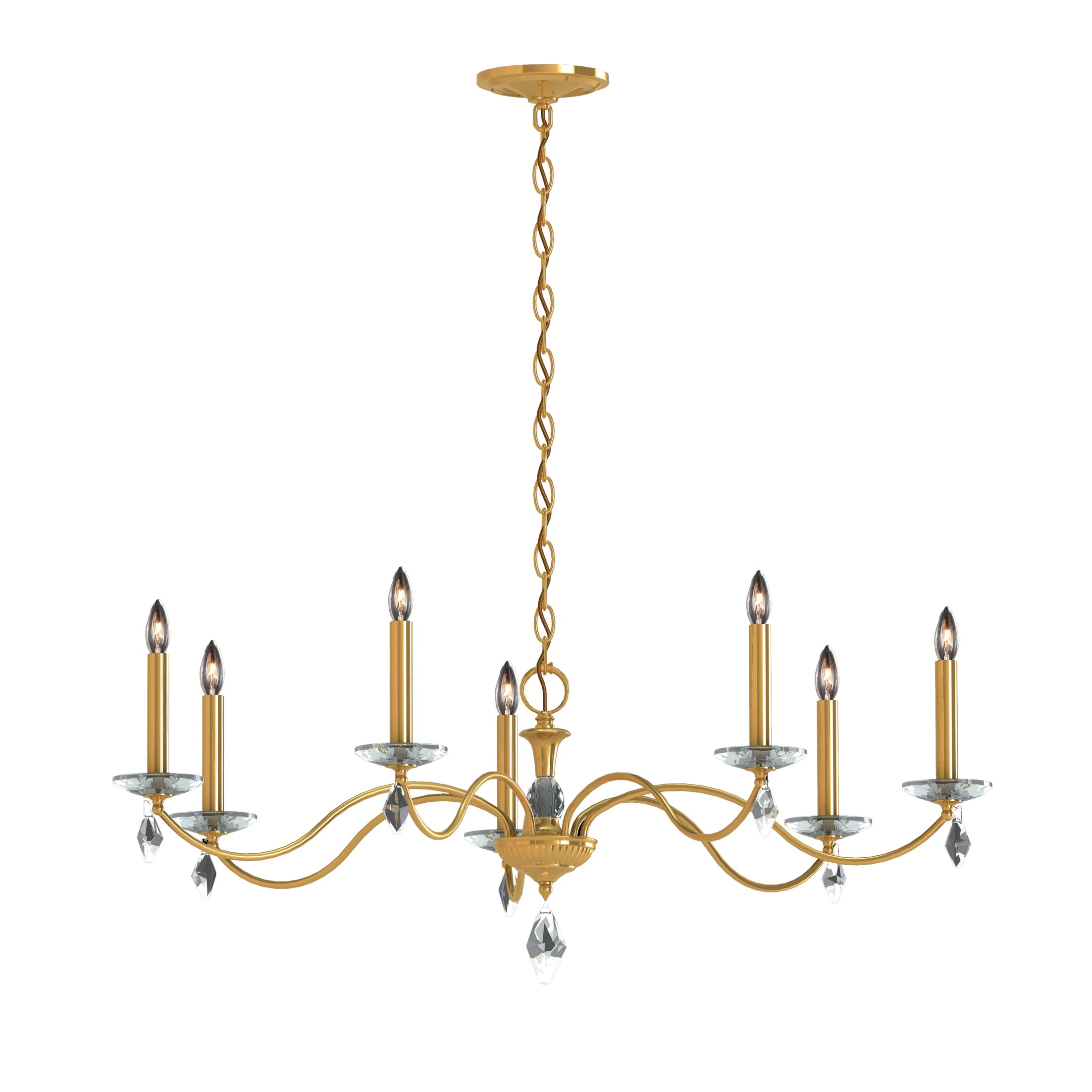 Modique 7-Light Chandelier Crystal Grade: Heritage, Finish: Aurelia