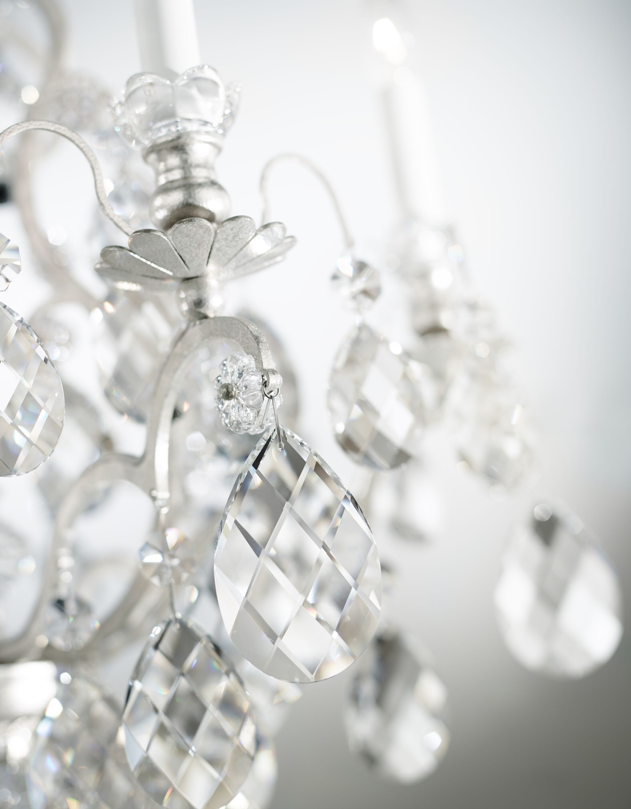 Renaissance 6-Light Candle Style Chandelier Finish / Crystal Color: Antique Silver / Handcut Clear