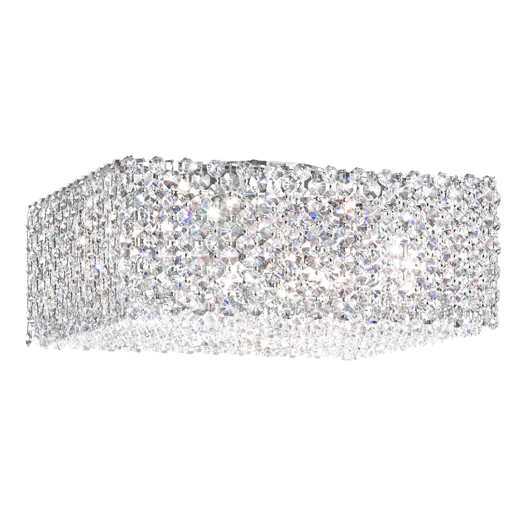 Refrax 4-Light Flush Mount Crystal Type: Swarovski Elements Black Diamond