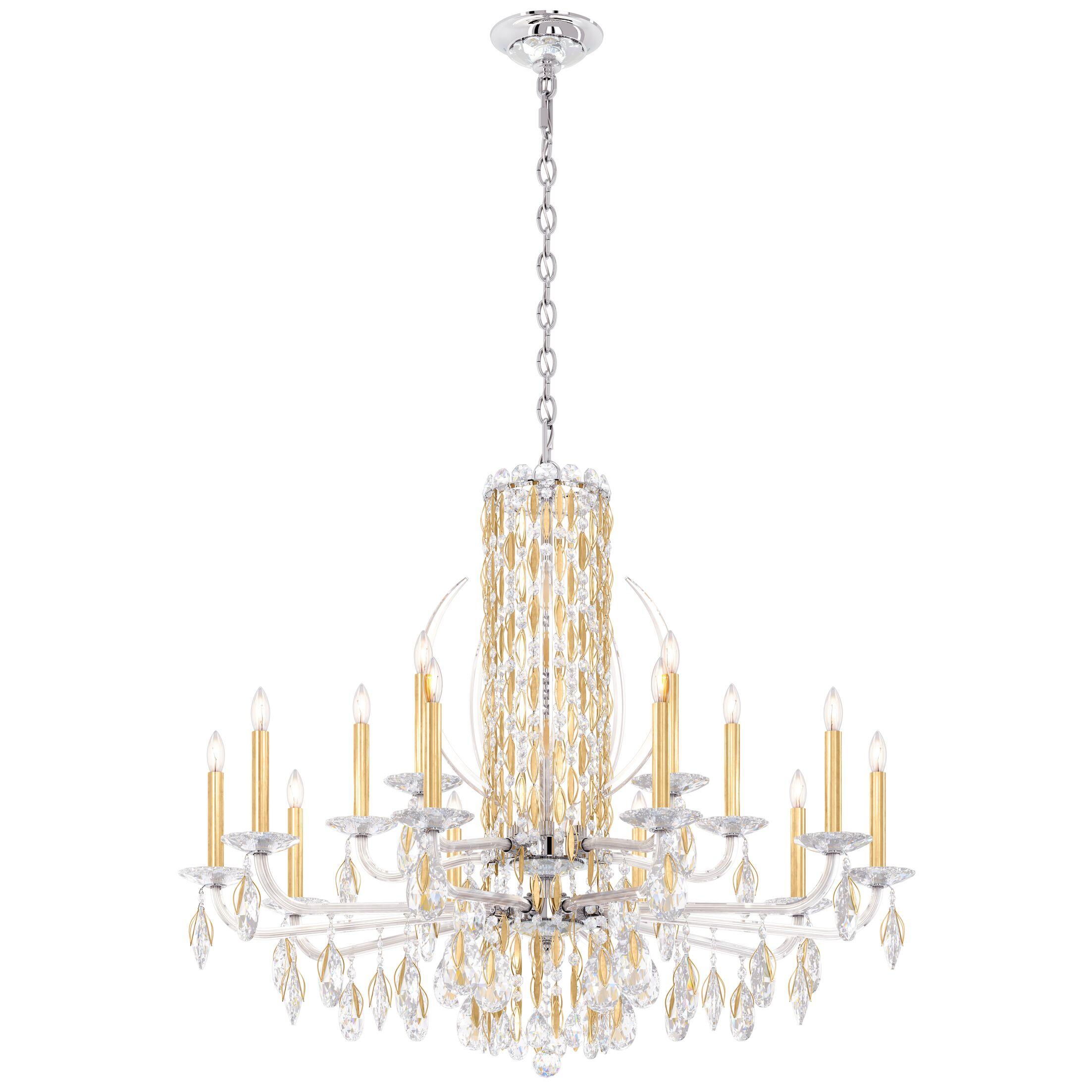 Sarella 15-Light Chandelier Finish: Antique Silver, Crystal: Spectra Crystal Clear