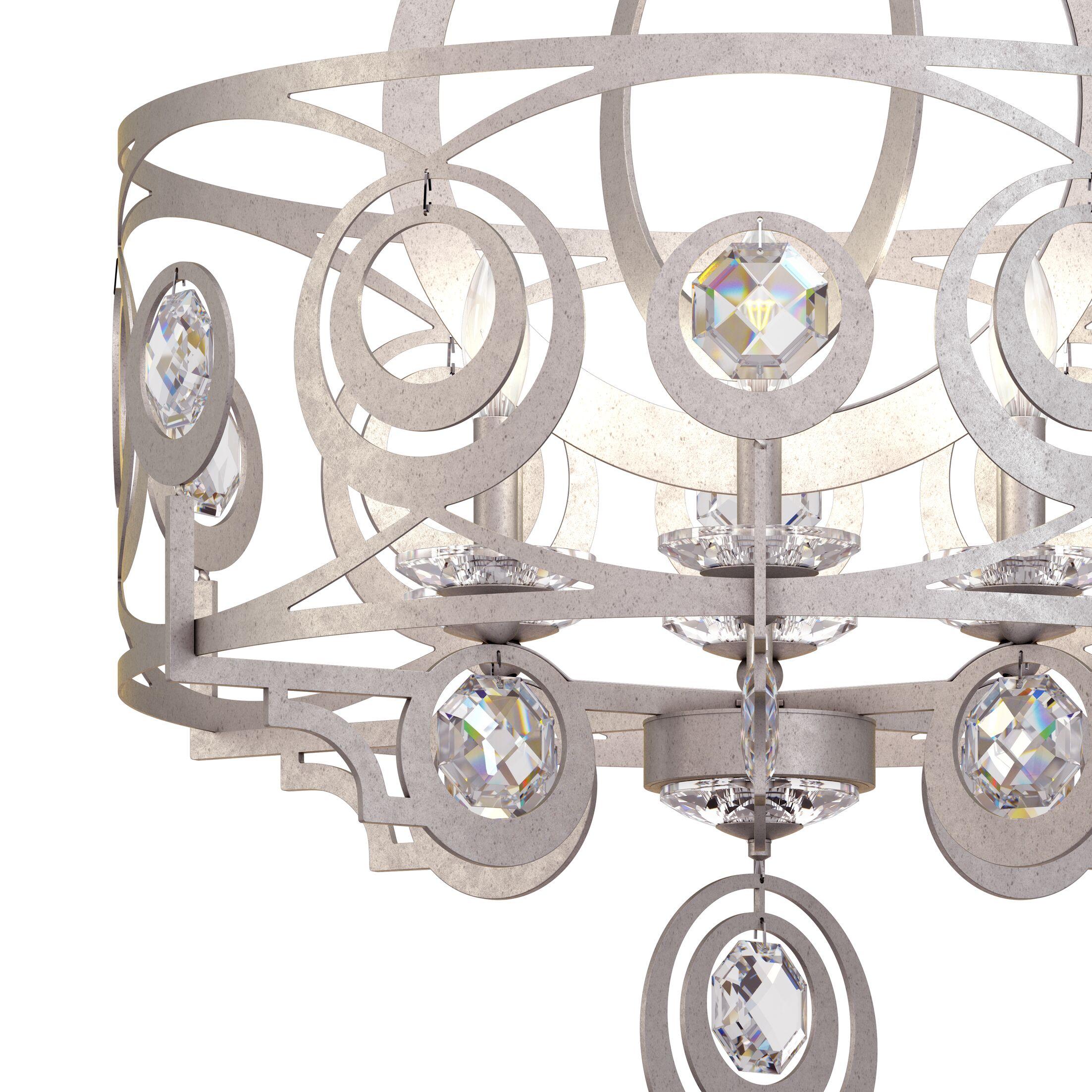 Gwynn 6-Light Chandelier Crystal Grade: Heritage, Finish: Antique Silver
