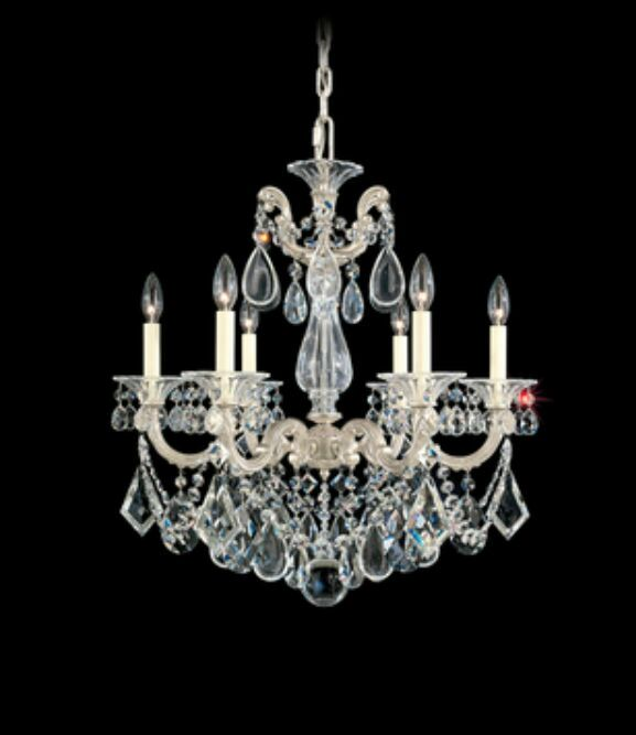La Scala 6-Light Chandelier Finish / Crystal Color: Heirloom Bronze / Handcut Clear