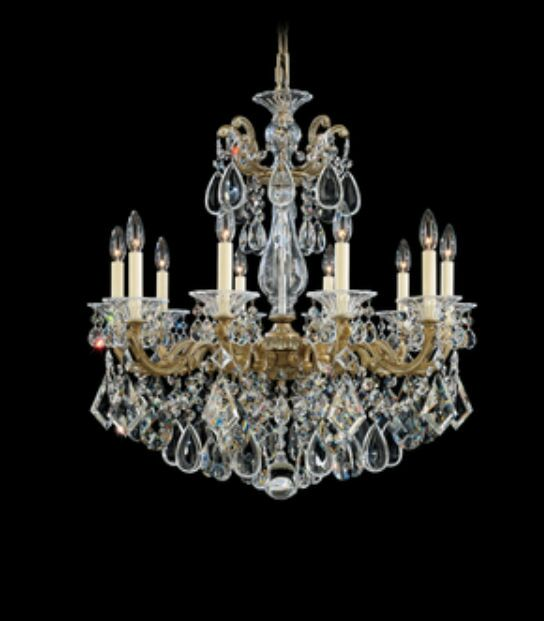 La Scala 10-Light Chandelier Finish / Crystal Color: Parchment Bronze / Spectra Crystal