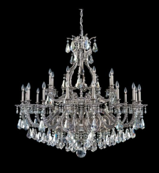 Sophia 24-Light Chandelier Finish: Antique Silver, Crystal Color: Strass Silver Shade