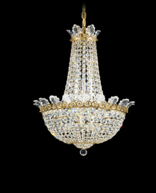 Roman 10-Light Chandelier Finish: Black Pearl, Crystal Color: Strass Clear