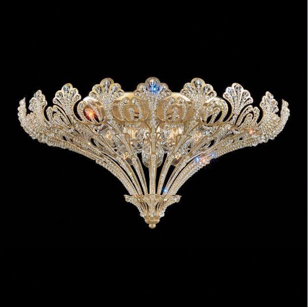 Rivendell 12-Light Flush Mount Finish: Antique Silver, Crystal Grade: Swarovski Spectra