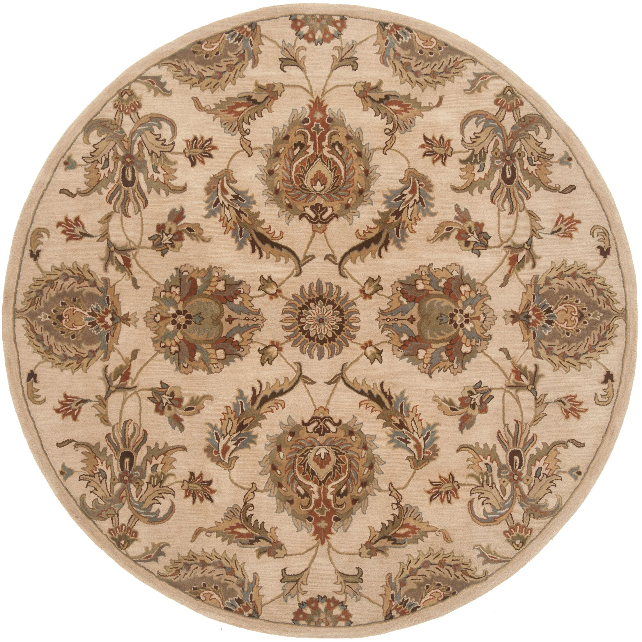 Serene Handmade Beige Area Rug Rug Size: Rectangle 5' x 7'6