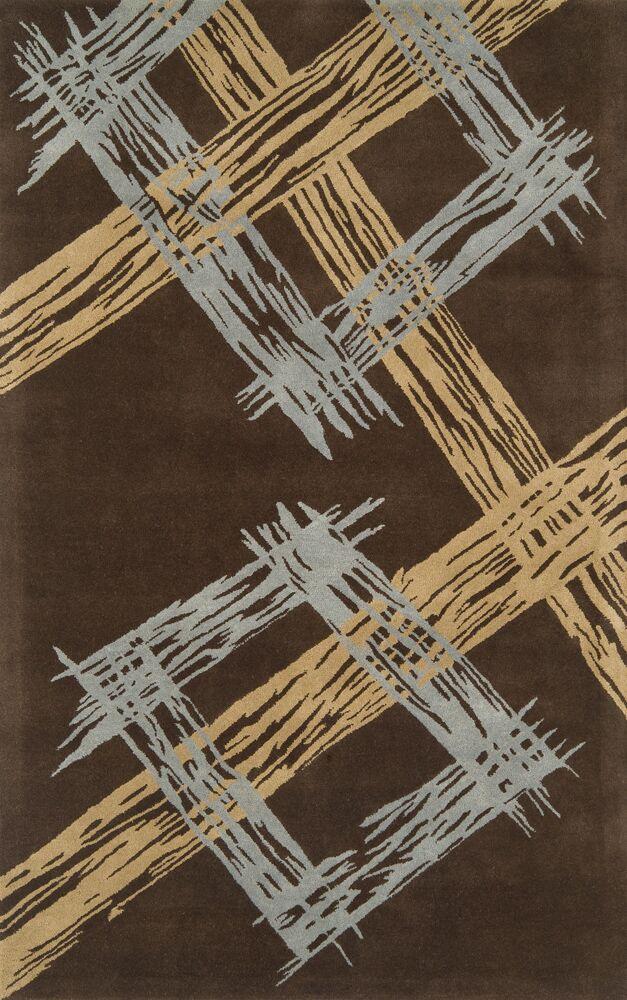 Edge Dark Brown Area Rug Rug Size: 5' x 8'